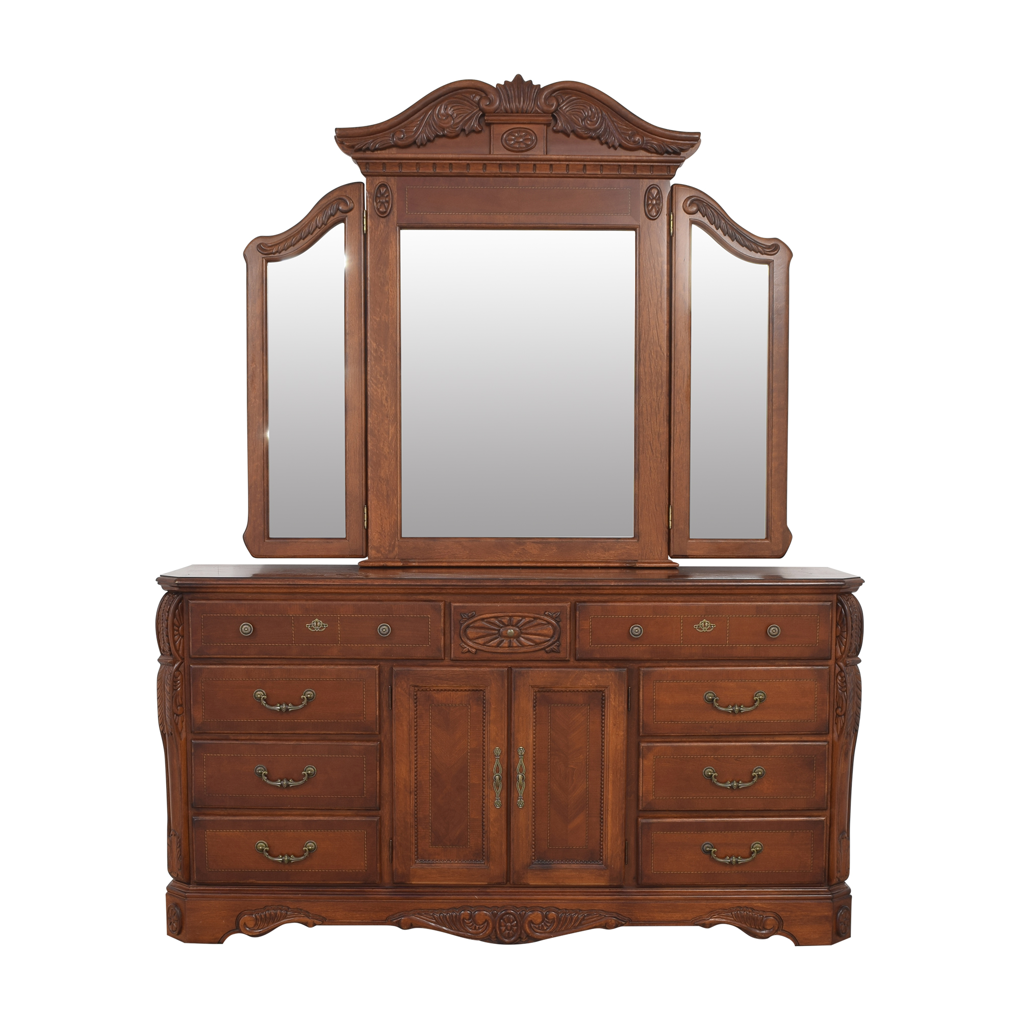 buy Dresser with Tri Fold Mirror  Dressers
