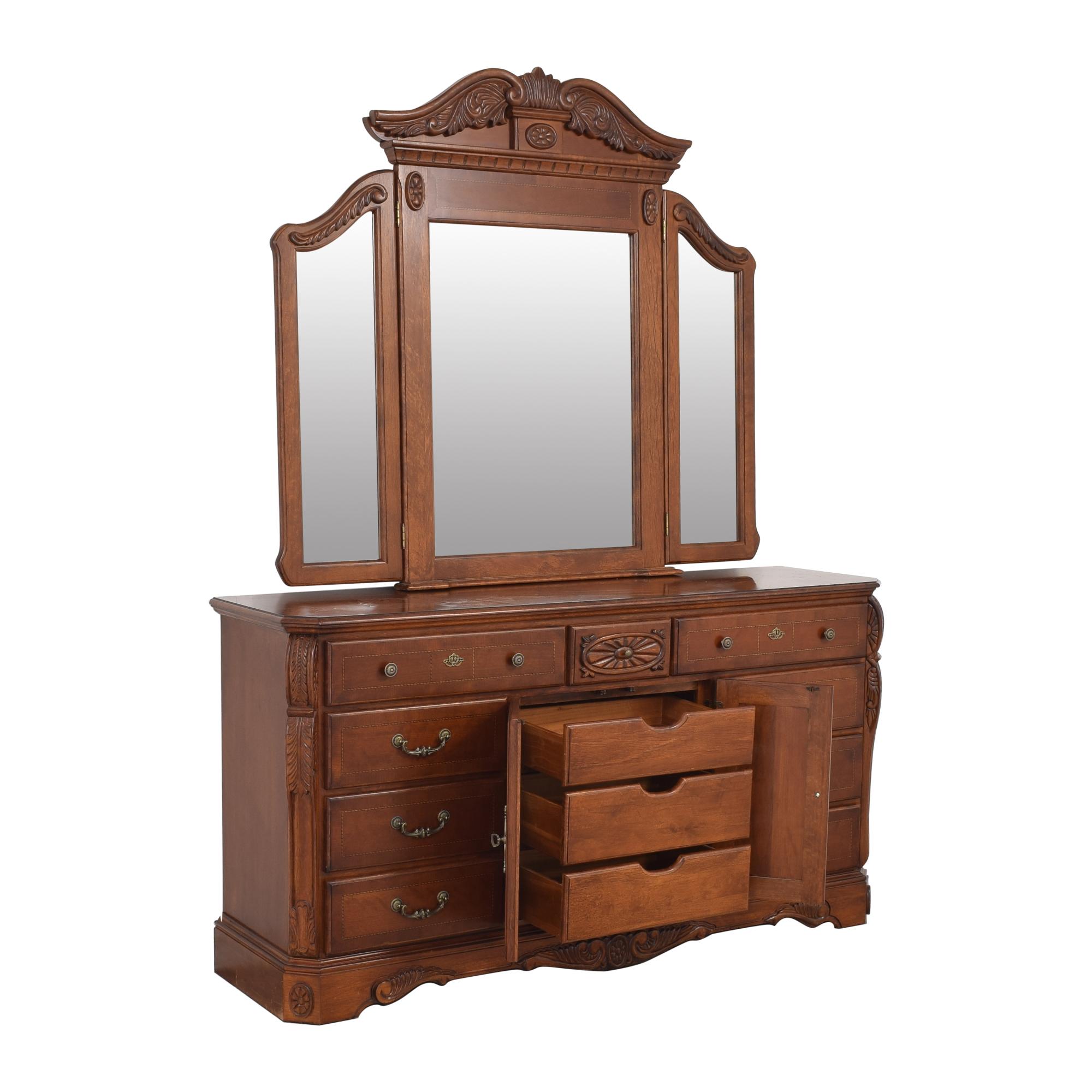 Dresser with Tri Fold Mirror second hand