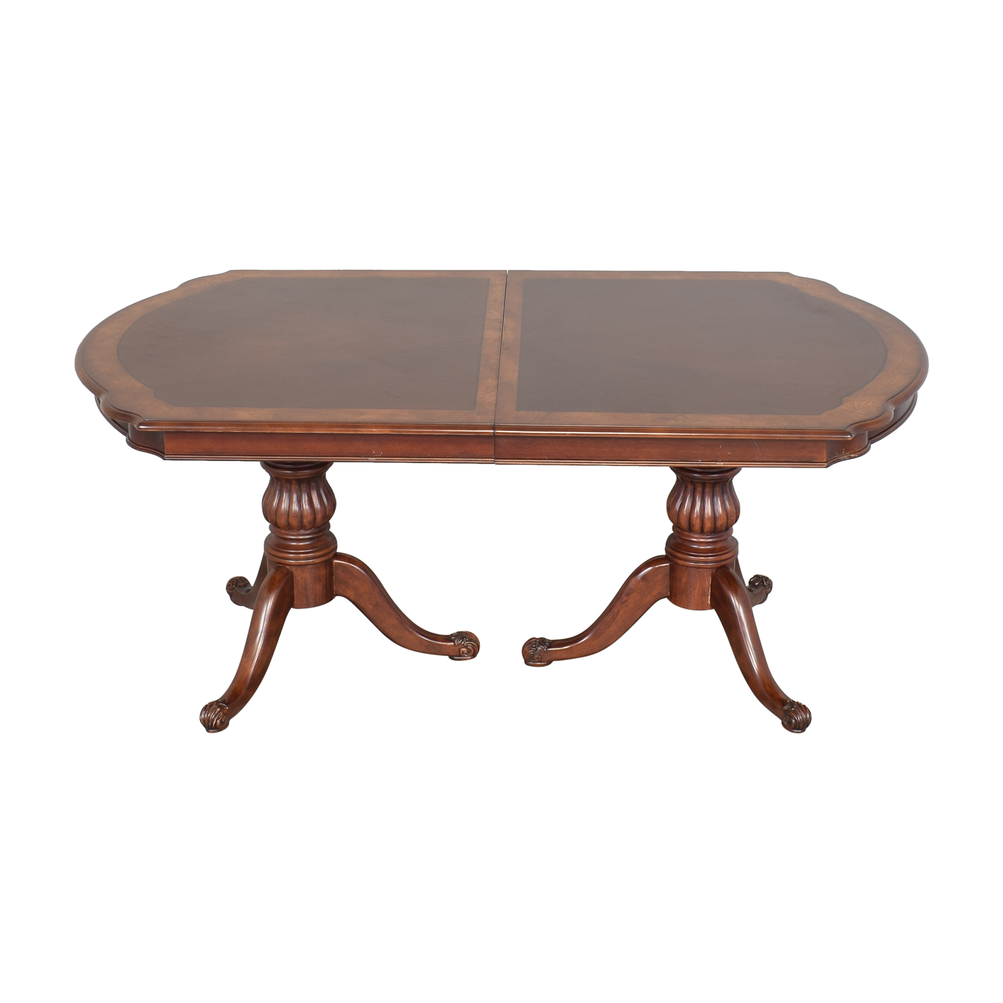 Double Pedestal Dining Table nyc