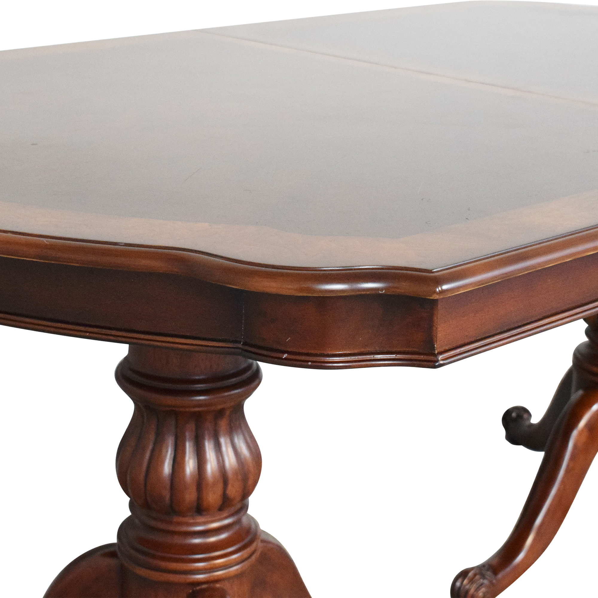 buy  Double Pedestal Dining Table online