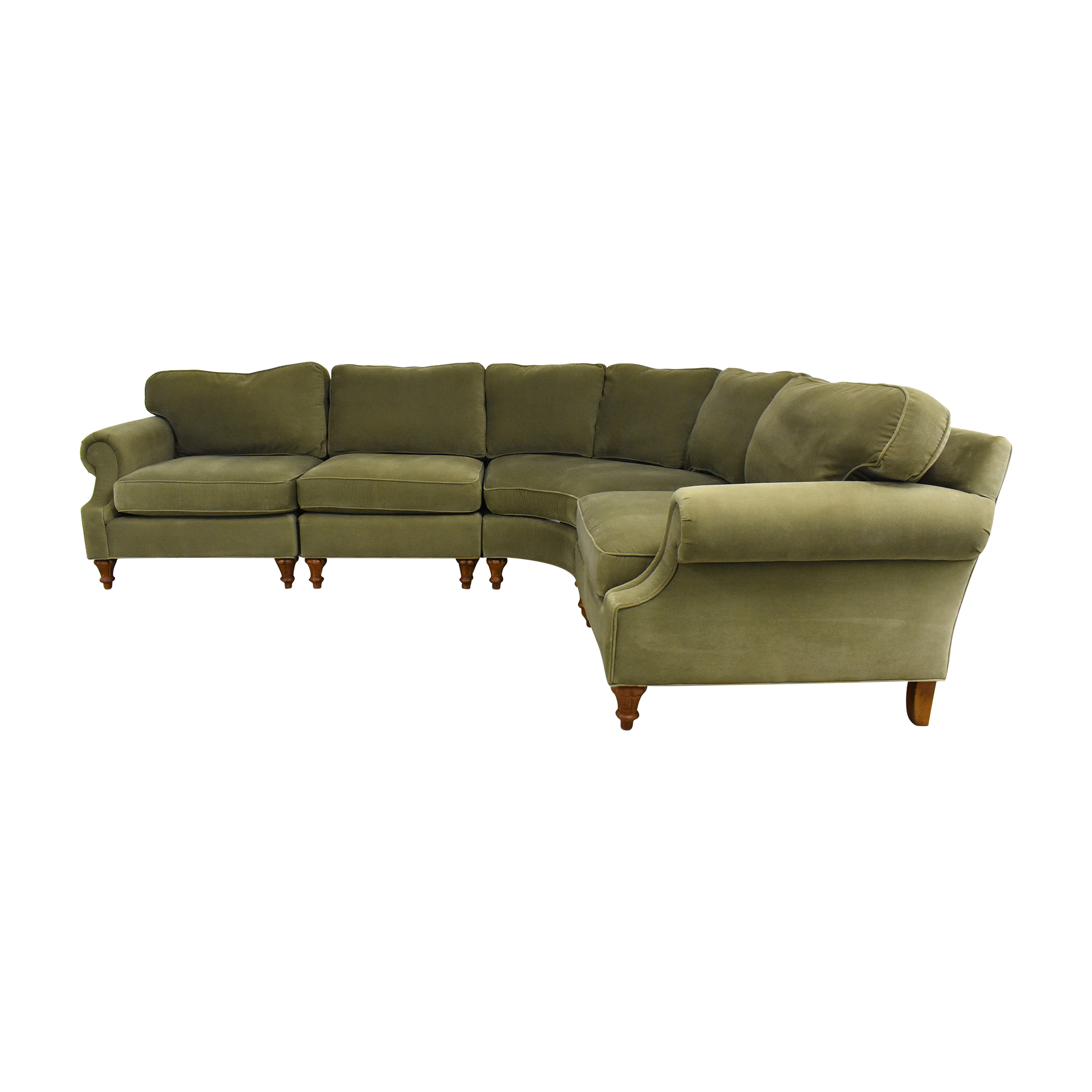 Highland House Furniture Highland House Furniture Curved Sectional Sofa ma