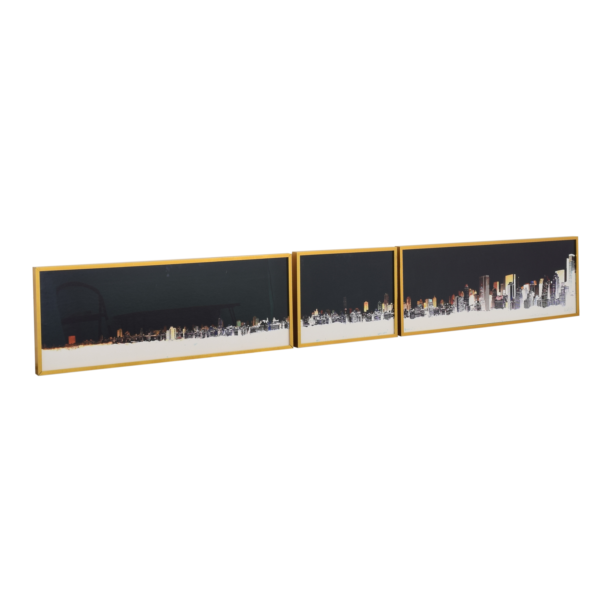 Framed Photography Triptych Wall Art dimensions