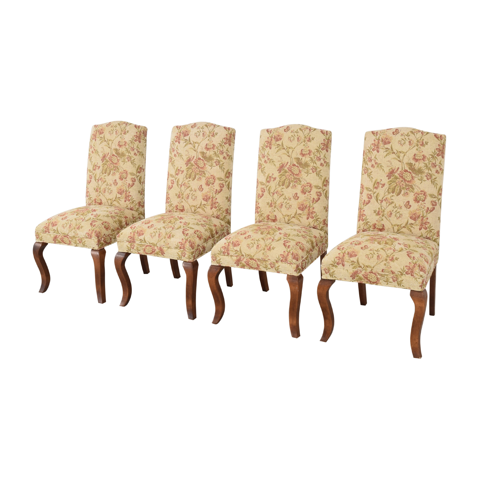 Queen Anne Upholstered Dining Chairs ct