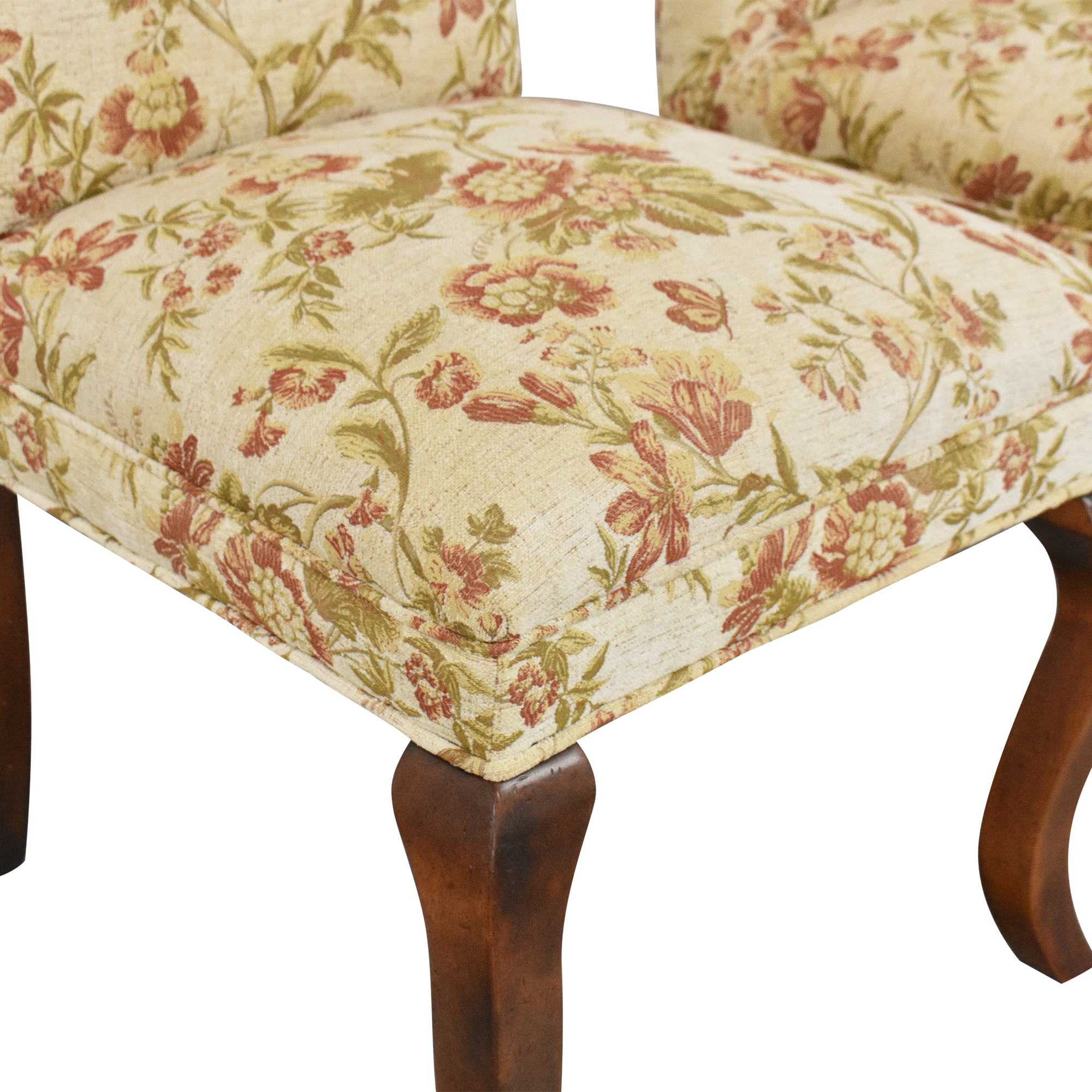 Queen Anne Upholstered Dining Chairs sale
