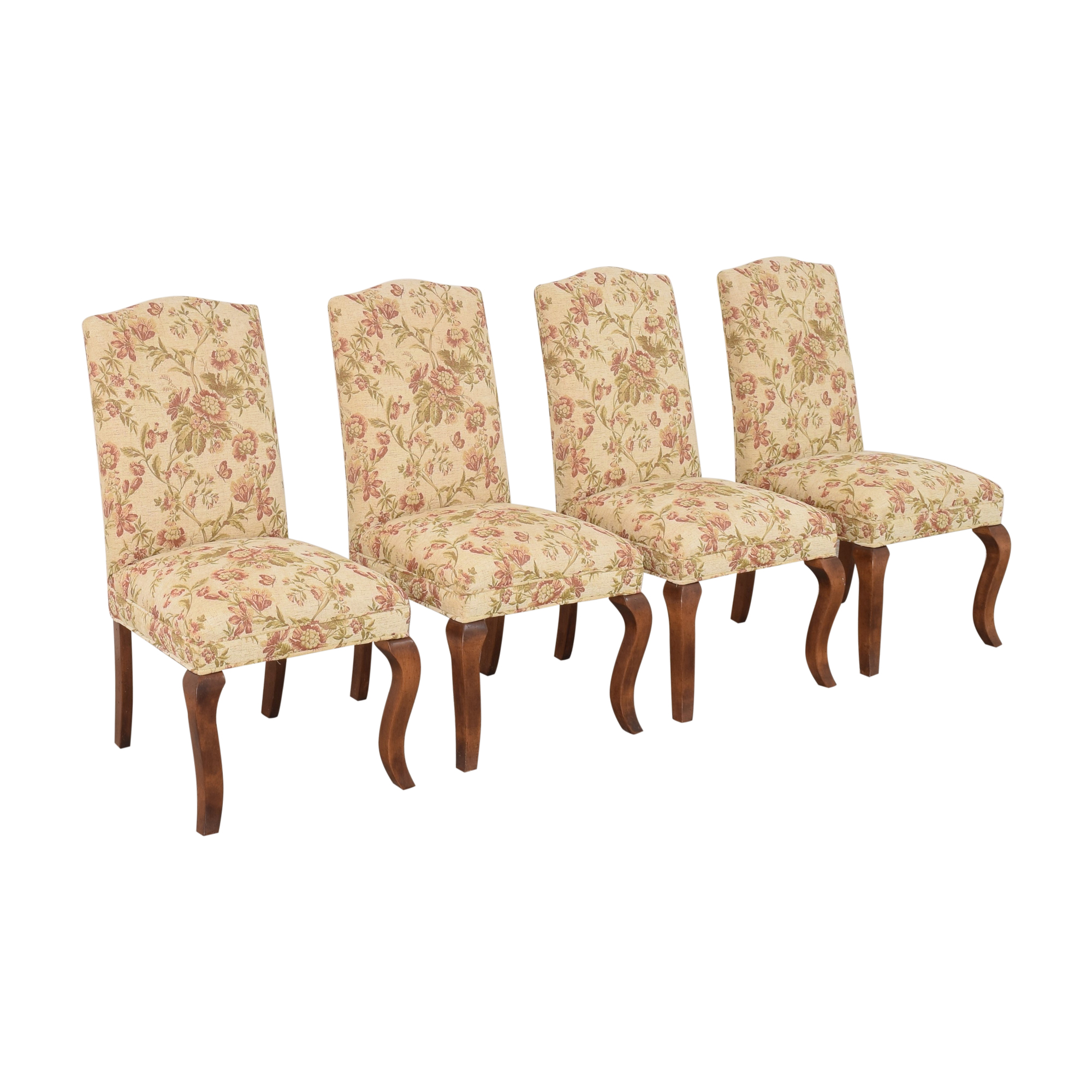Queen Anne Upholstered Dining Chairs for sale