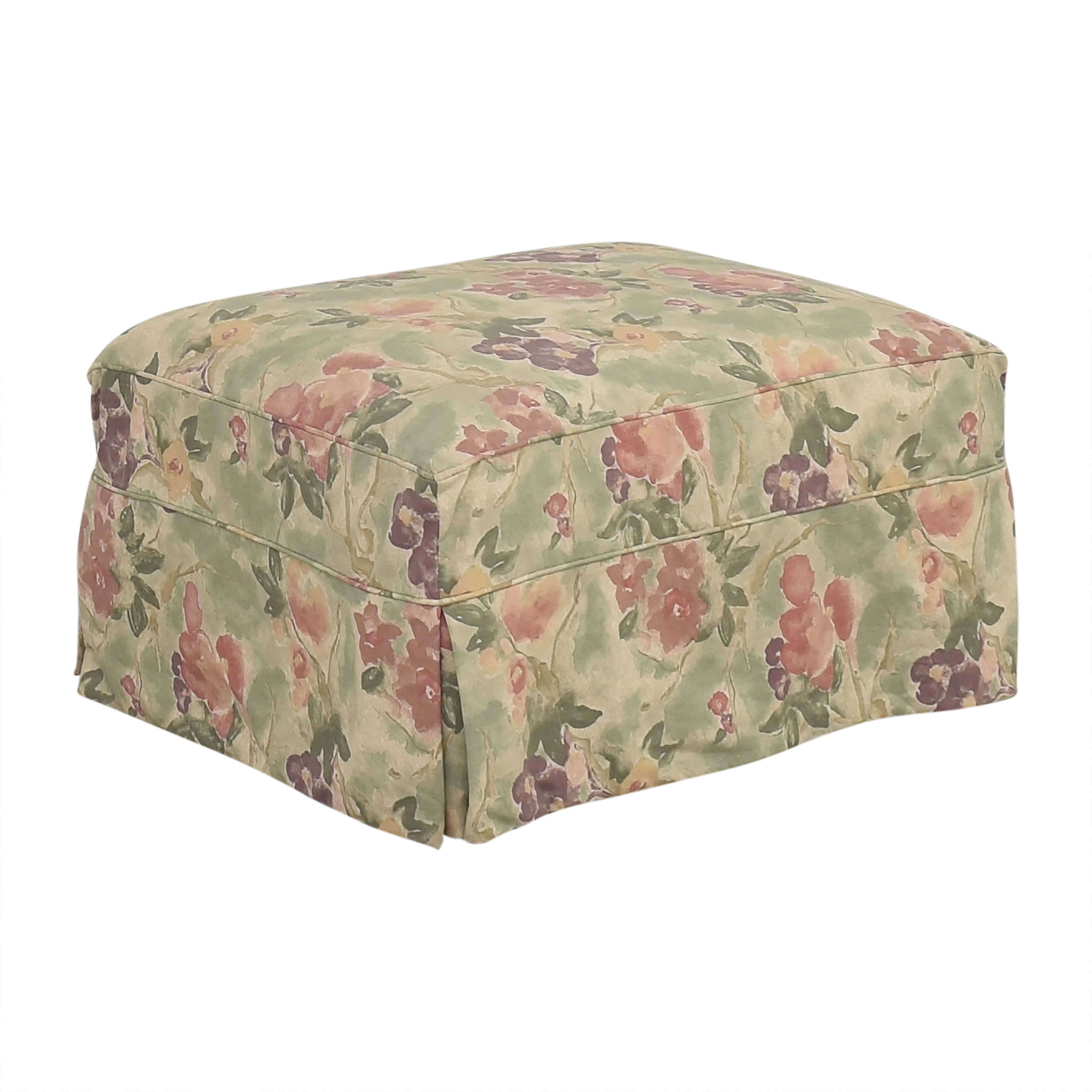 Crate & Barrel Crate & Barrel Slipcovered Ottoman nyc