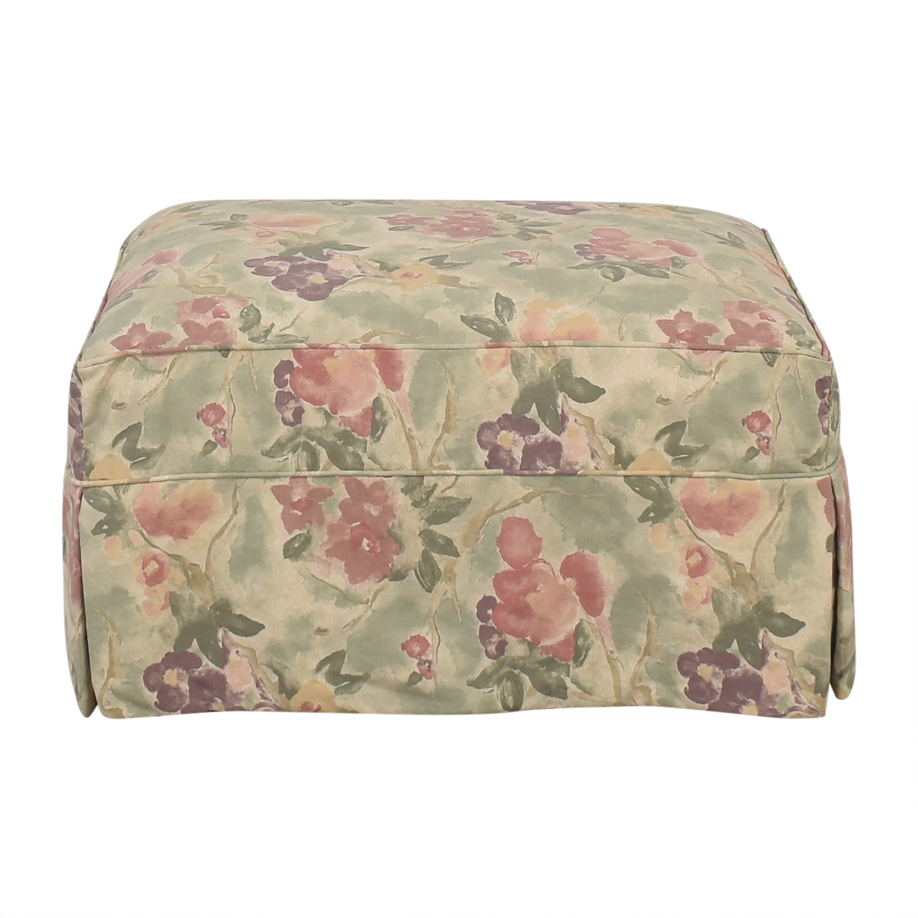 Crate & Barrel Slipcovered Ottoman / Chairs