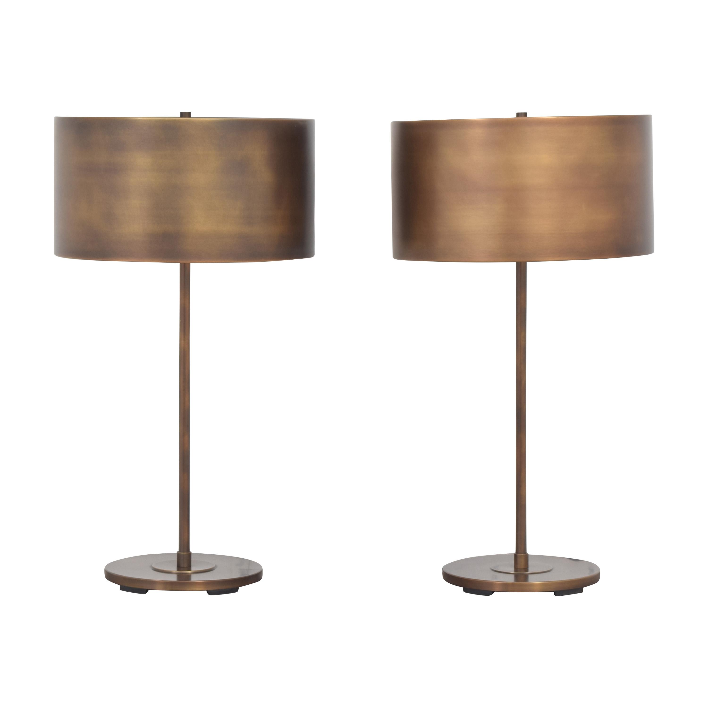 shop Restoration Hardware Antiqued Drum Table Lamps Restoration Hardware