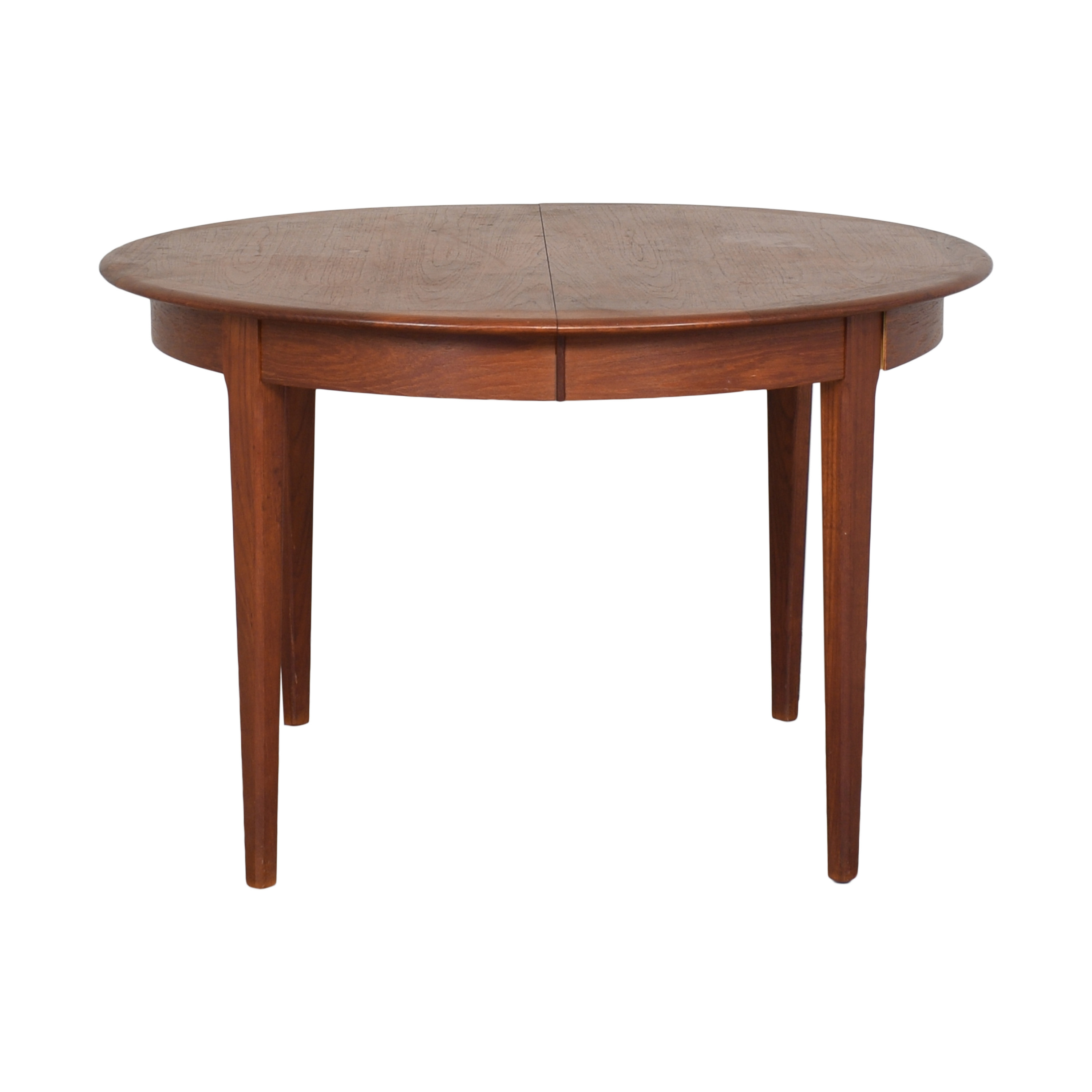 Danish Style Round Extendable Dining Table ct
