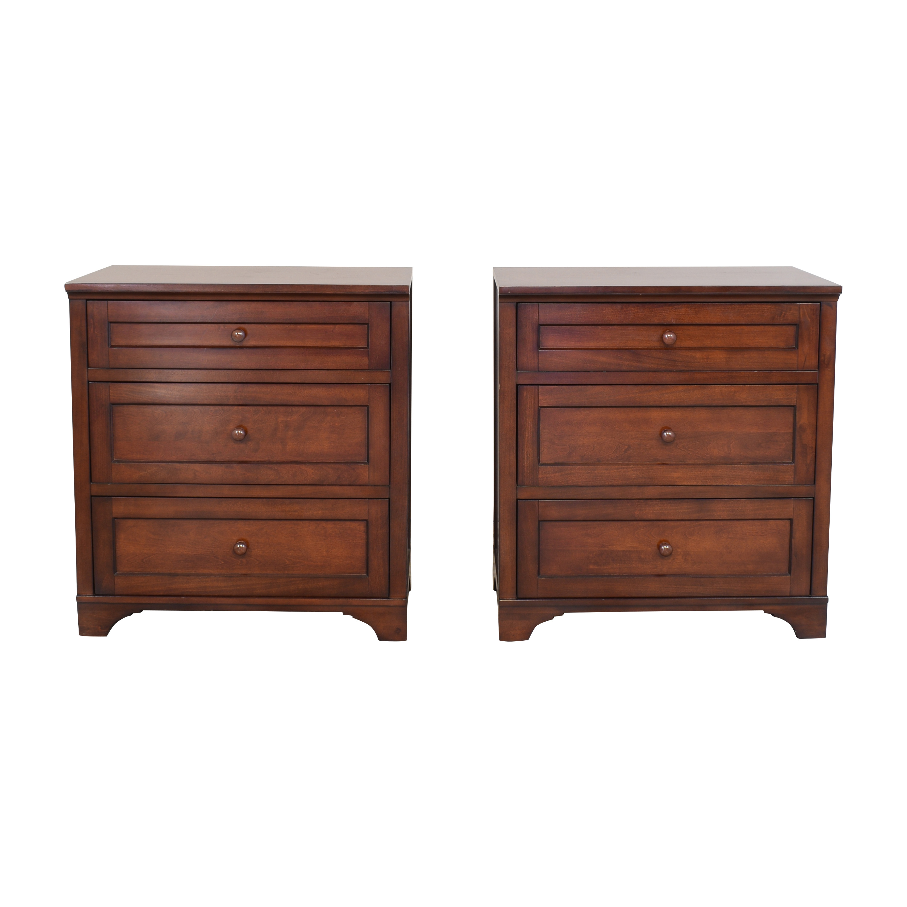 Pottery Barn Three Drawer Nightstands / End Tables