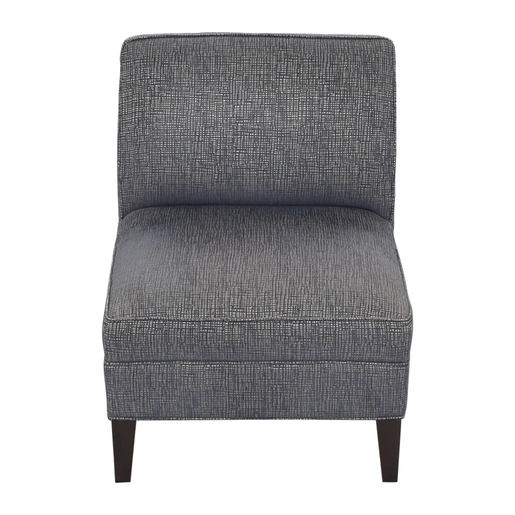 Ethan Allen Ethan Allen Slipper Chair blue