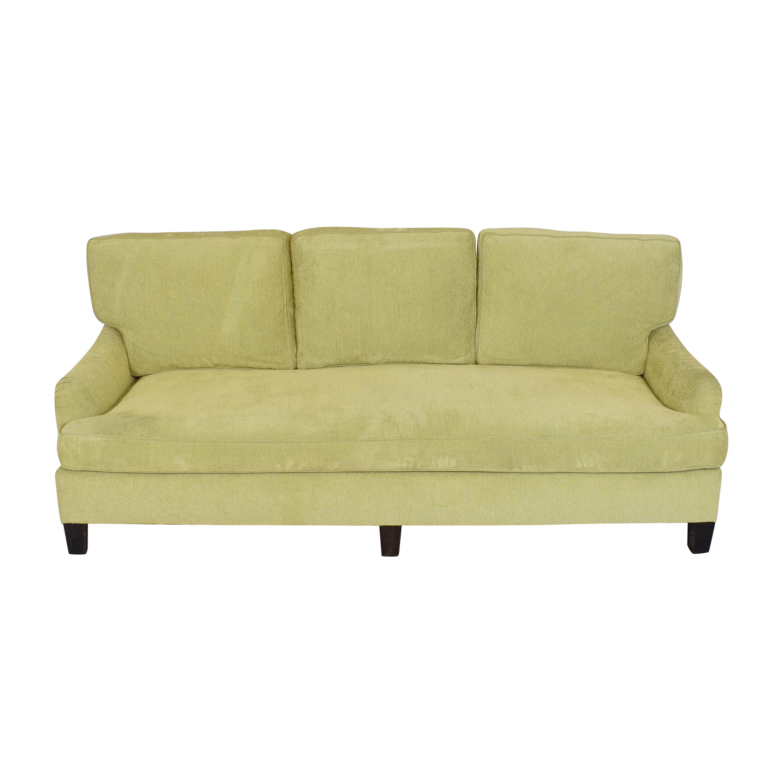 Custom Bench Cushion Sofa green