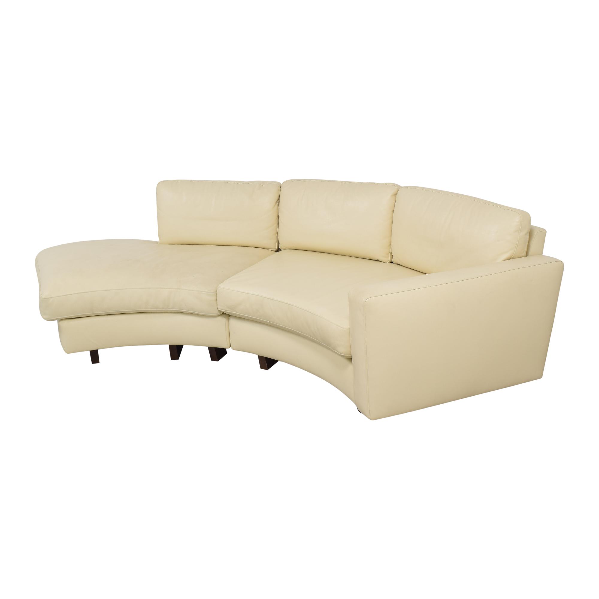 Thayer Coggin Thayer Coggin Clip 2 Sectional Sofa dimensions