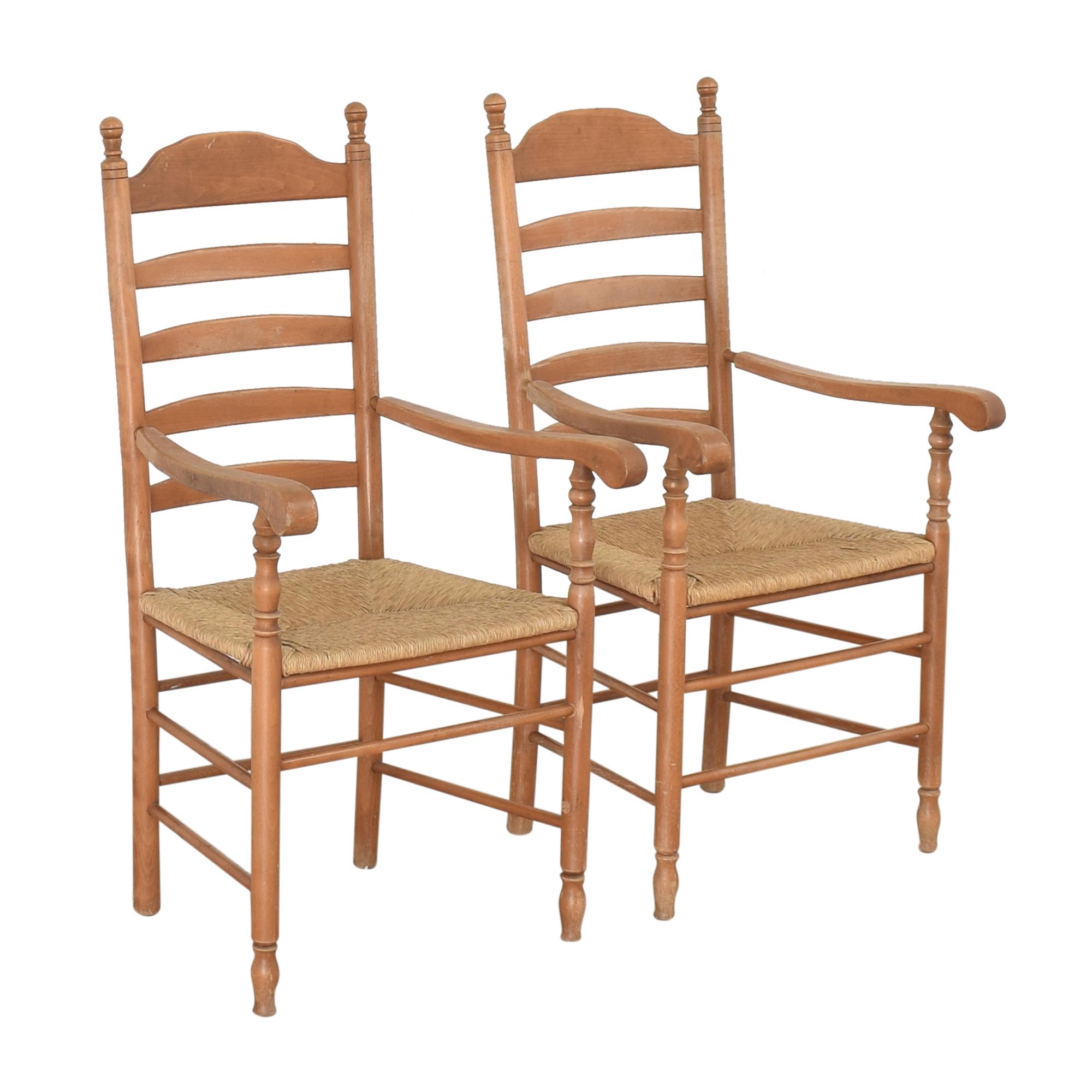 Custom Tall Back Arm Chairs used