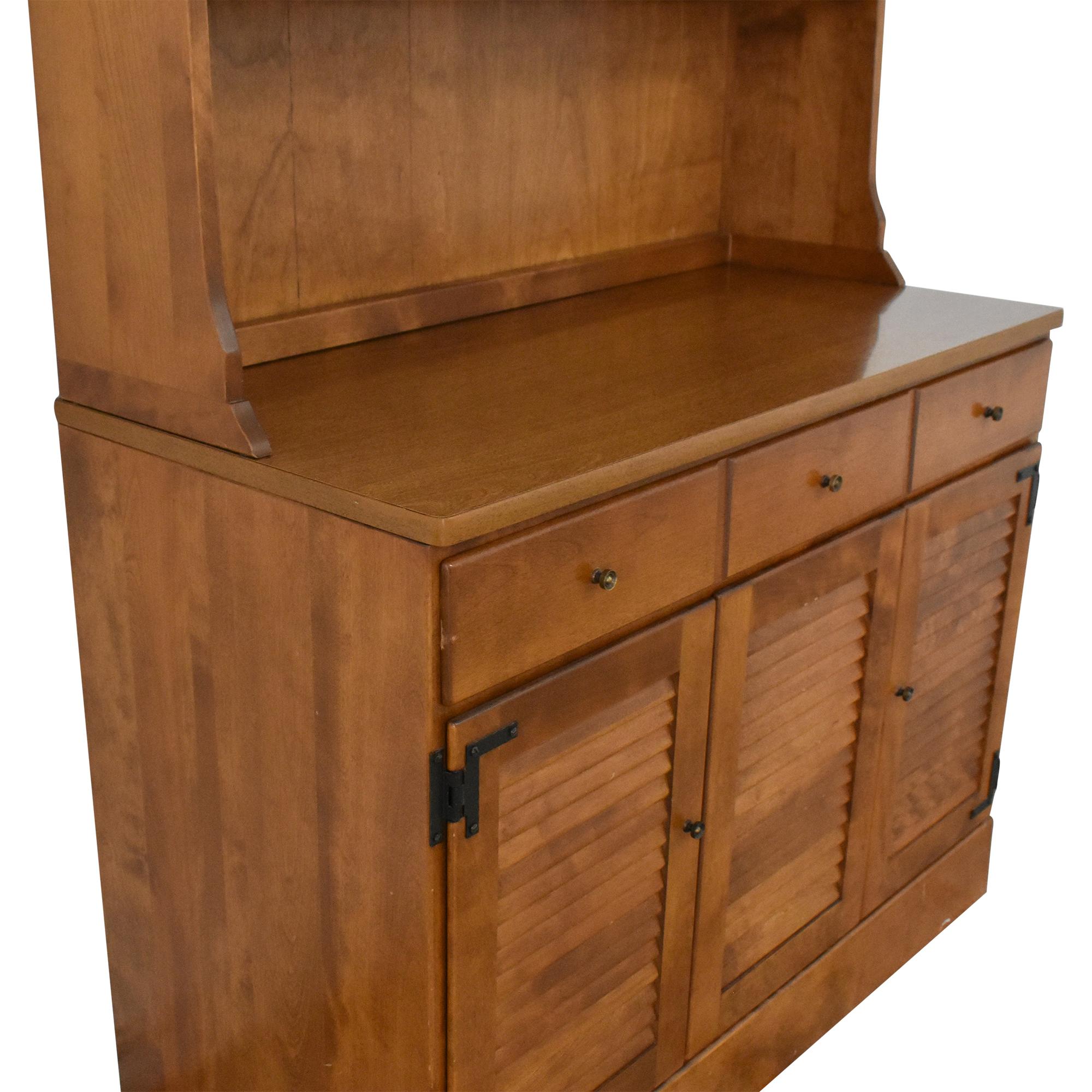 shop Ethan Allen Cabinet with Hutch Ethan Allen Storage