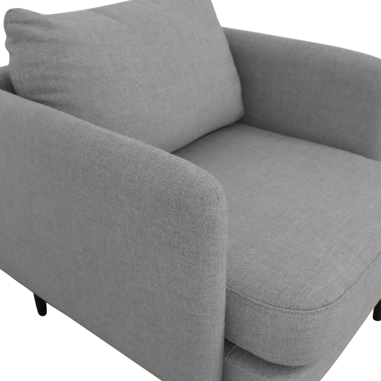 West Elm West Elm Auburn Accent Chair dimensions