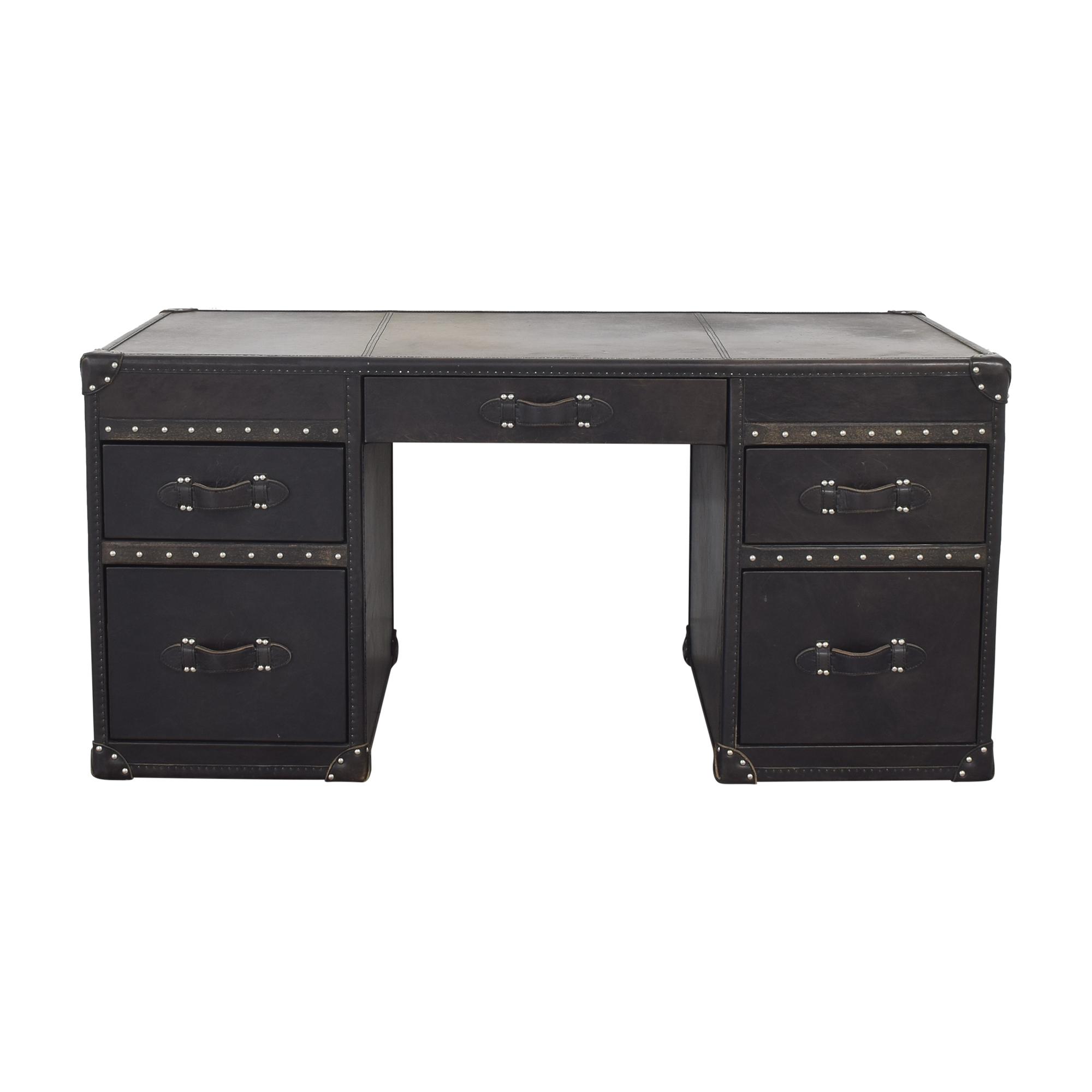 buy Restoration Hardware Restoration Hardware Mayfair Steamer Trunk Desk online