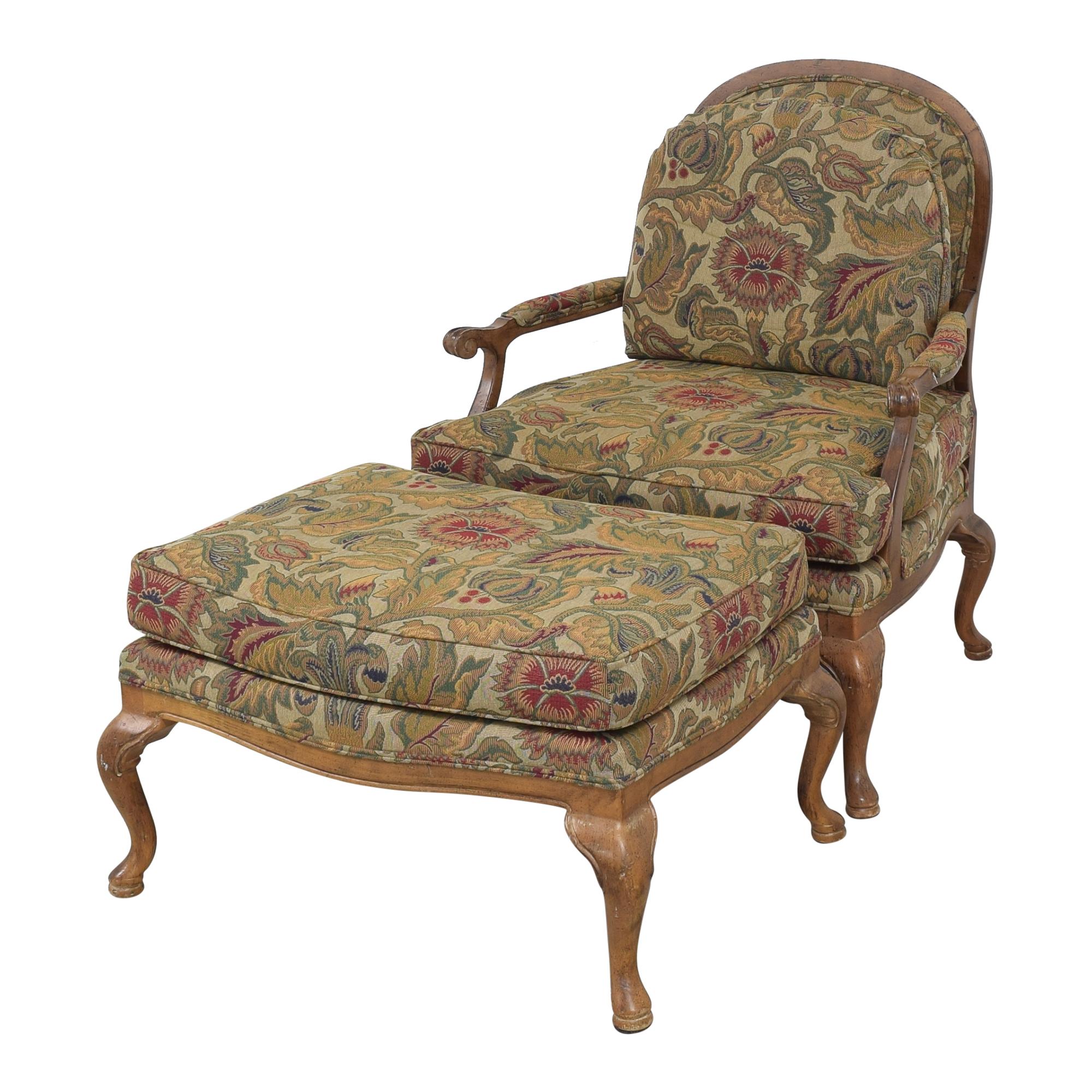 Thomasville Thomasville Bergere Chair and Ottoman pa