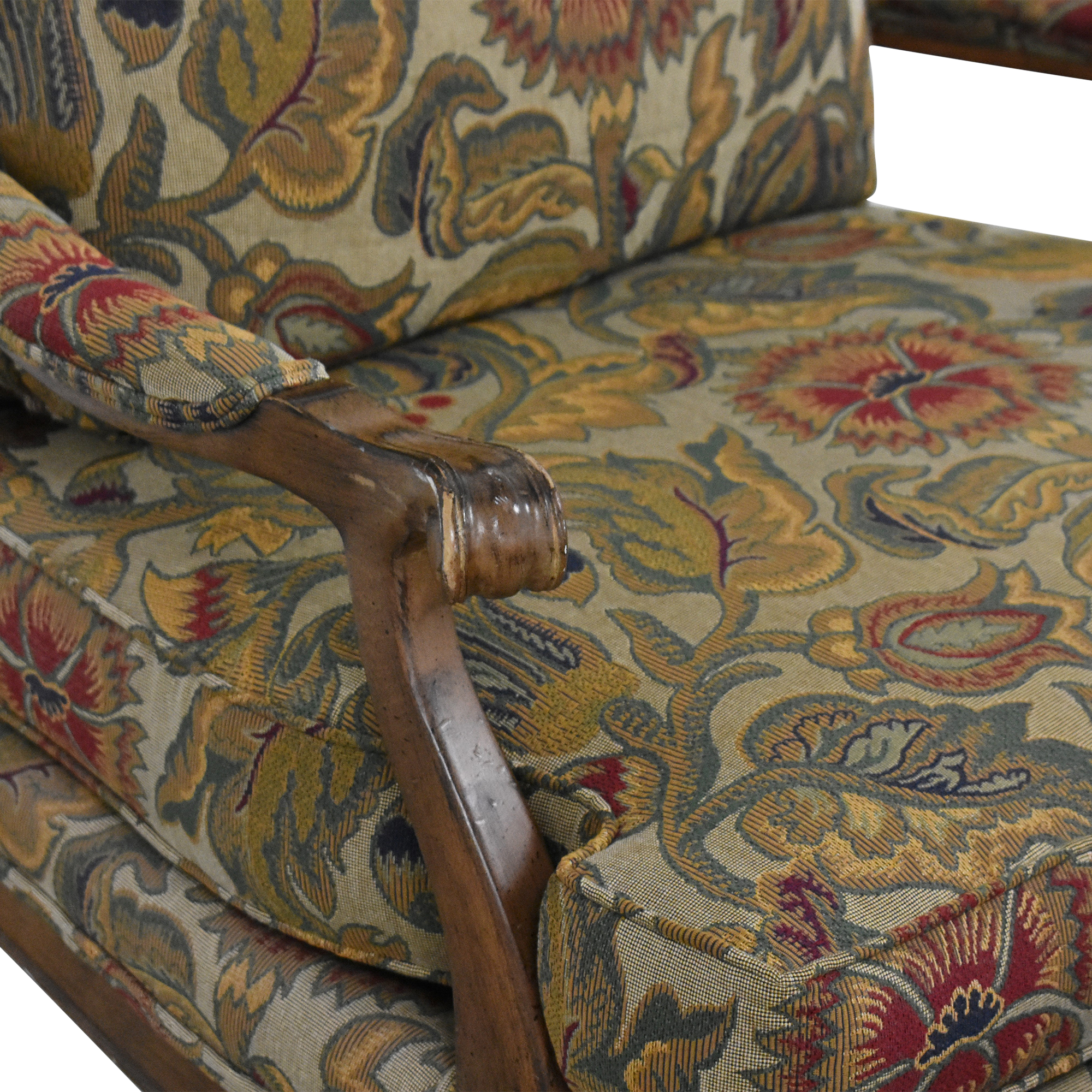 Thomasville Thomasville Bergere Chair and Ottoman second hand