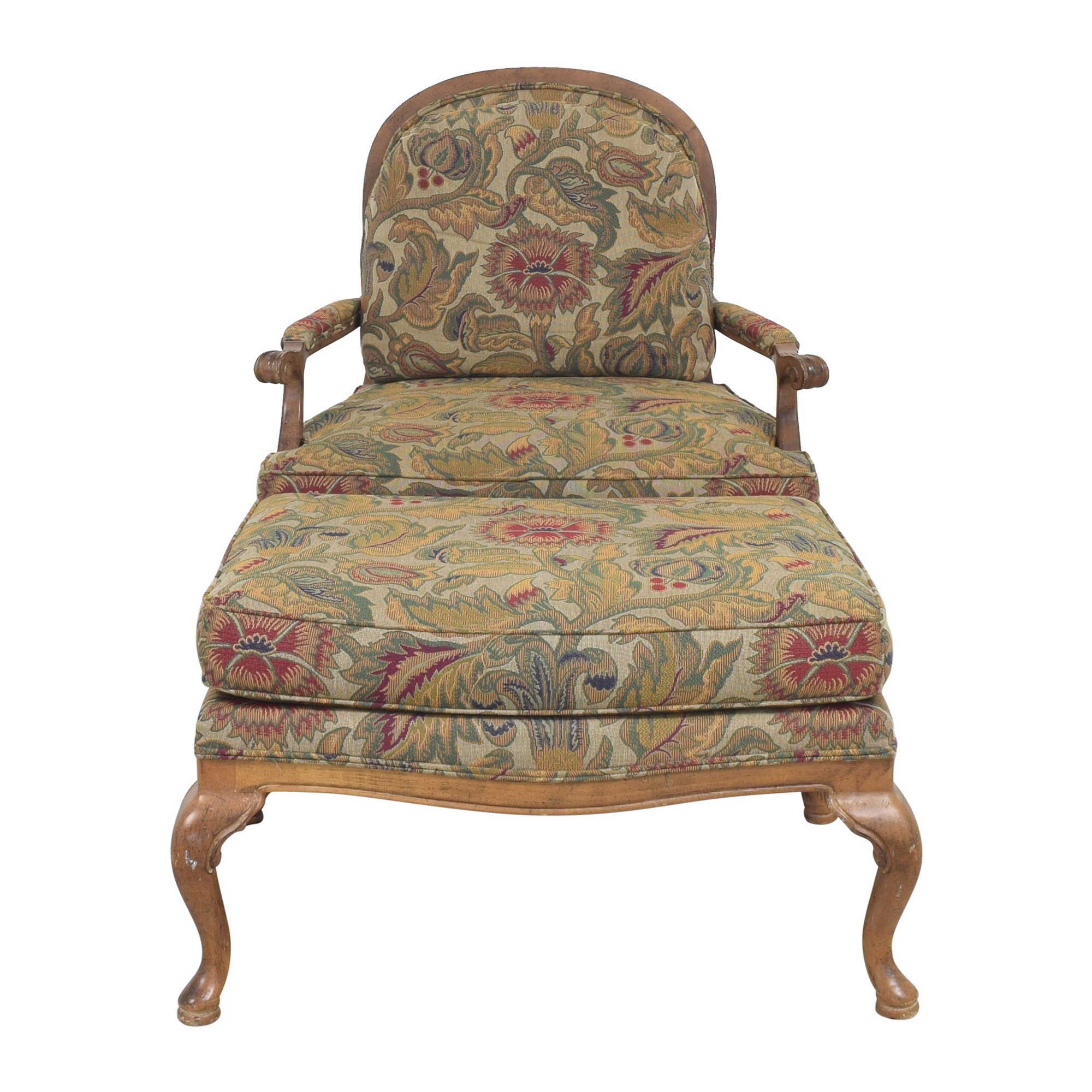 Thomasville Bergere Chair and Ottoman / Chairs