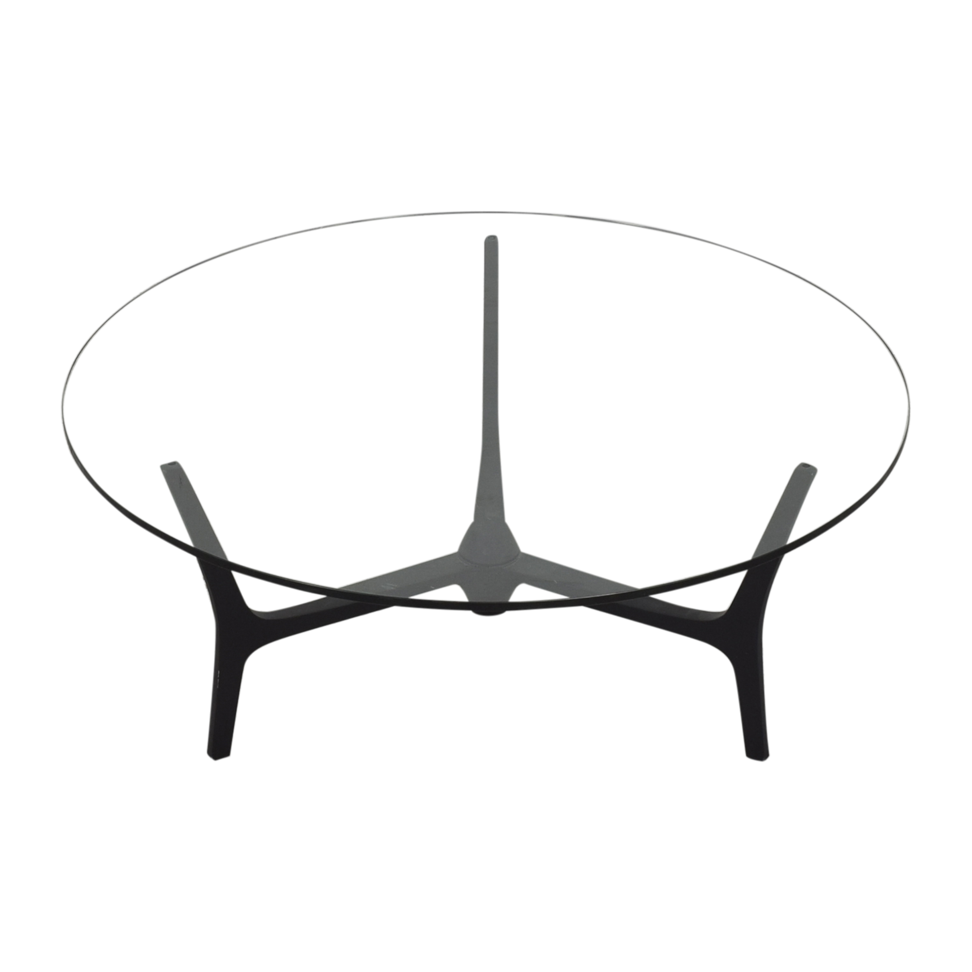 Picture of: 49 Off Cb2 Cb2 Midcentury Round Coffee Table Tables