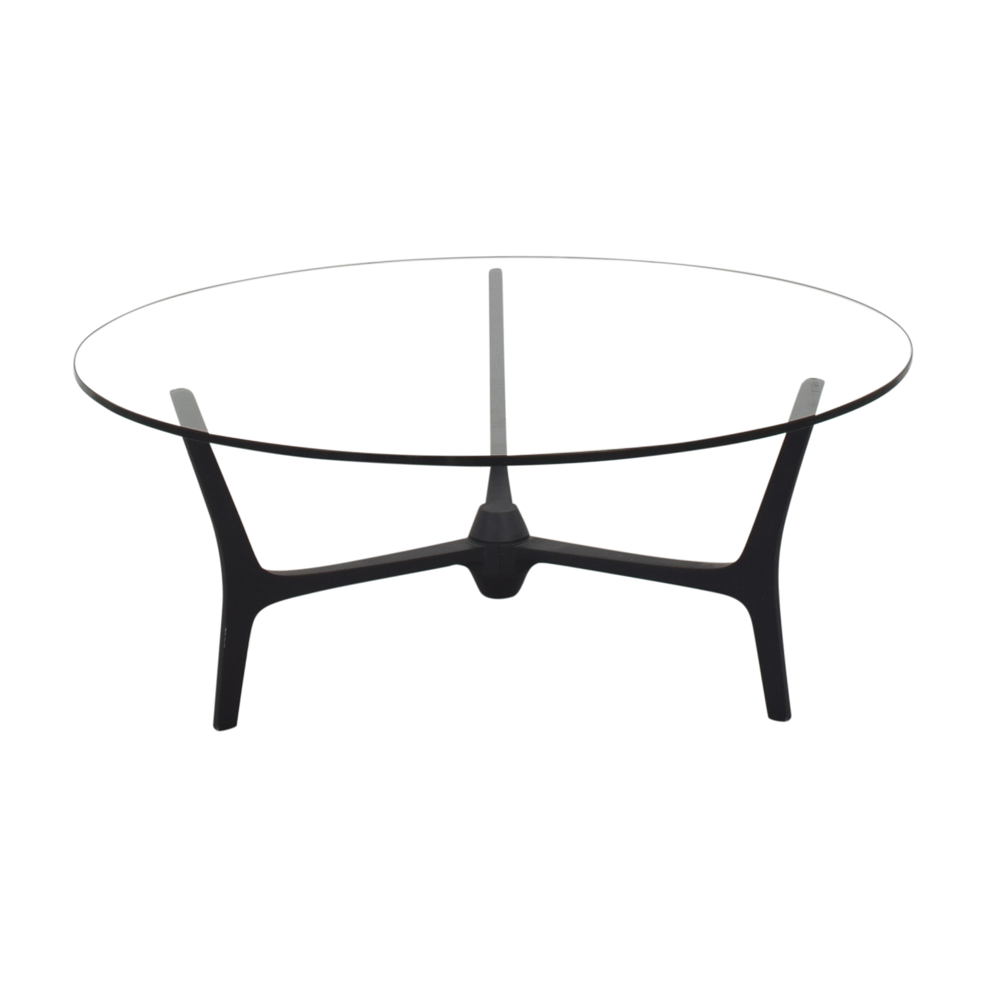 shop CB2 Midcentury Round Coffee Table CB2 Coffee Tables
