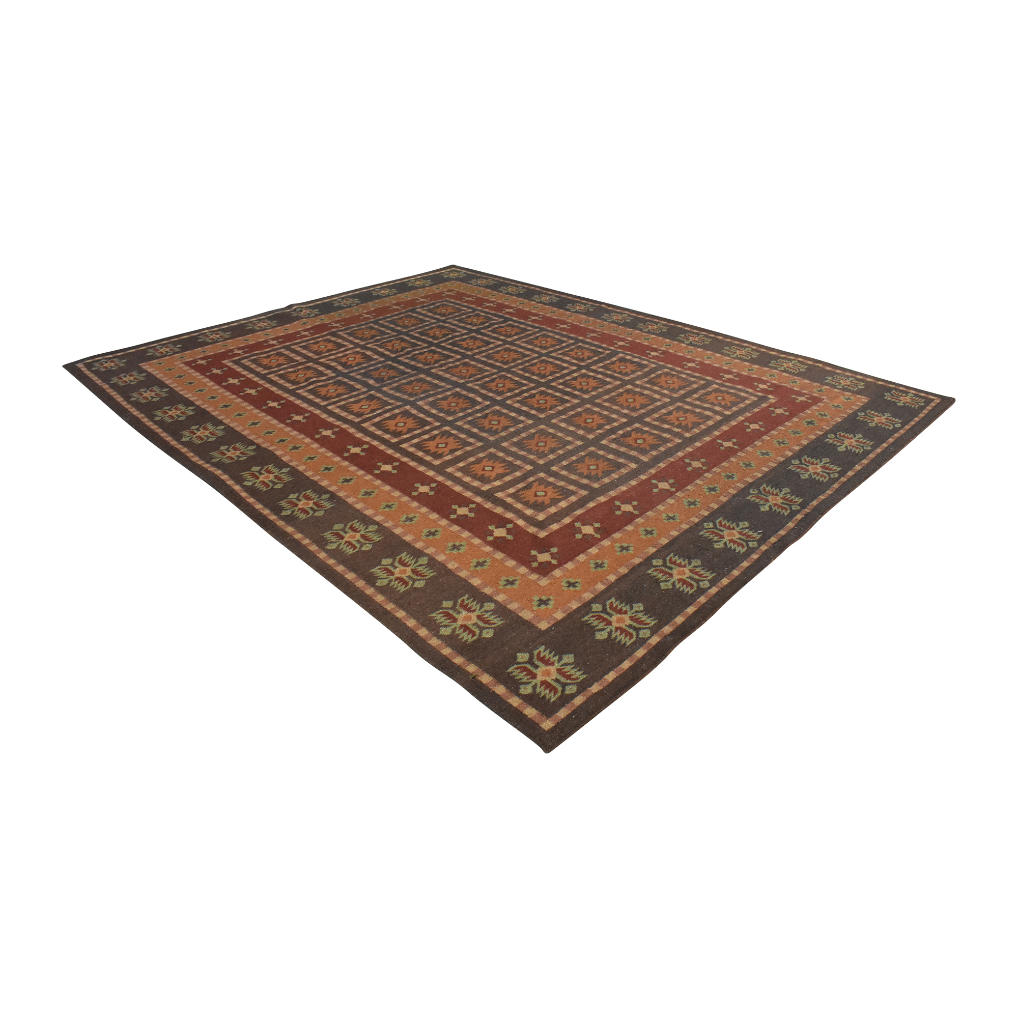 Pottery Barn Patterned Area Rug / Rugs