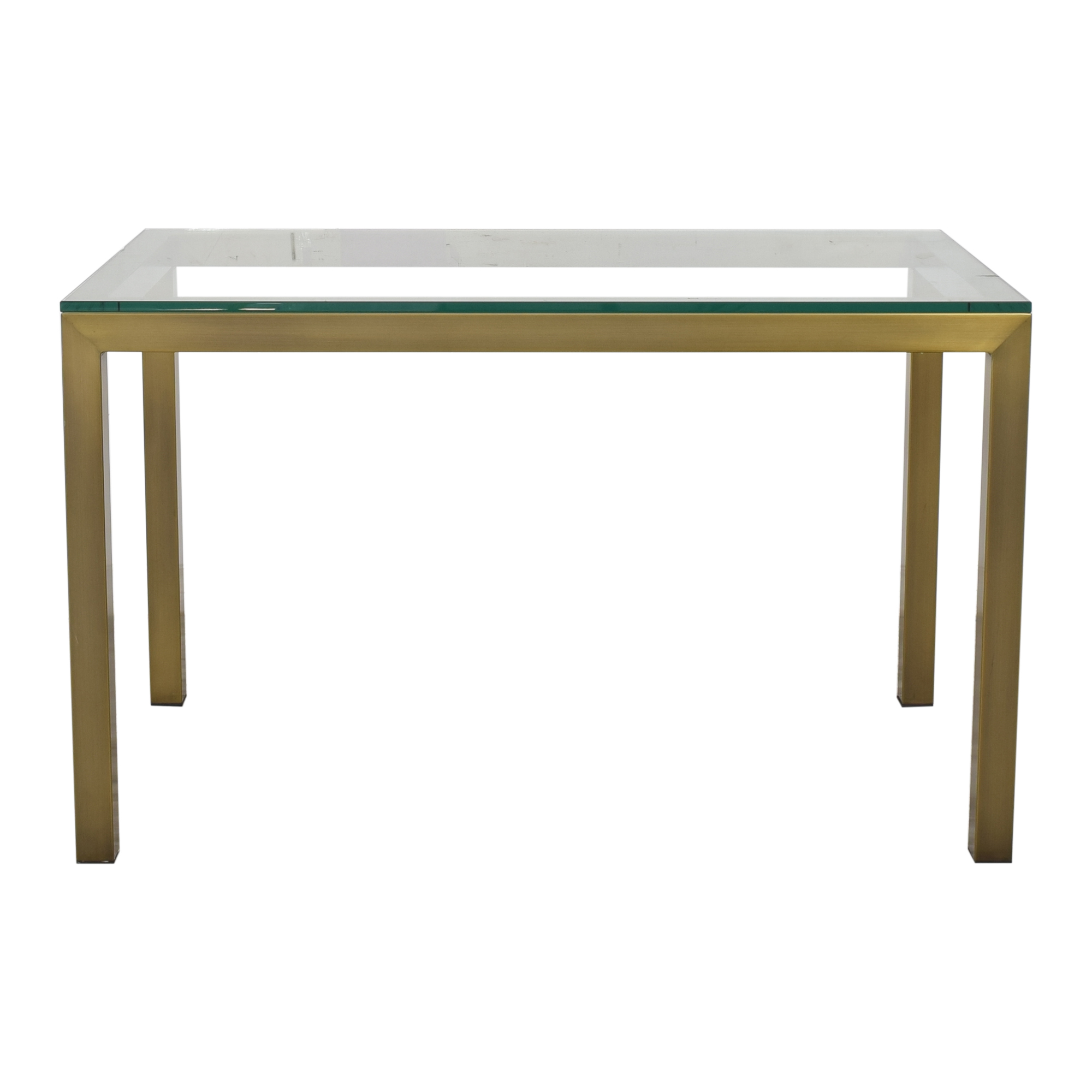Crate & Barrel Crate & Barrel Parsons Dining Table with Transparent Surface on sale