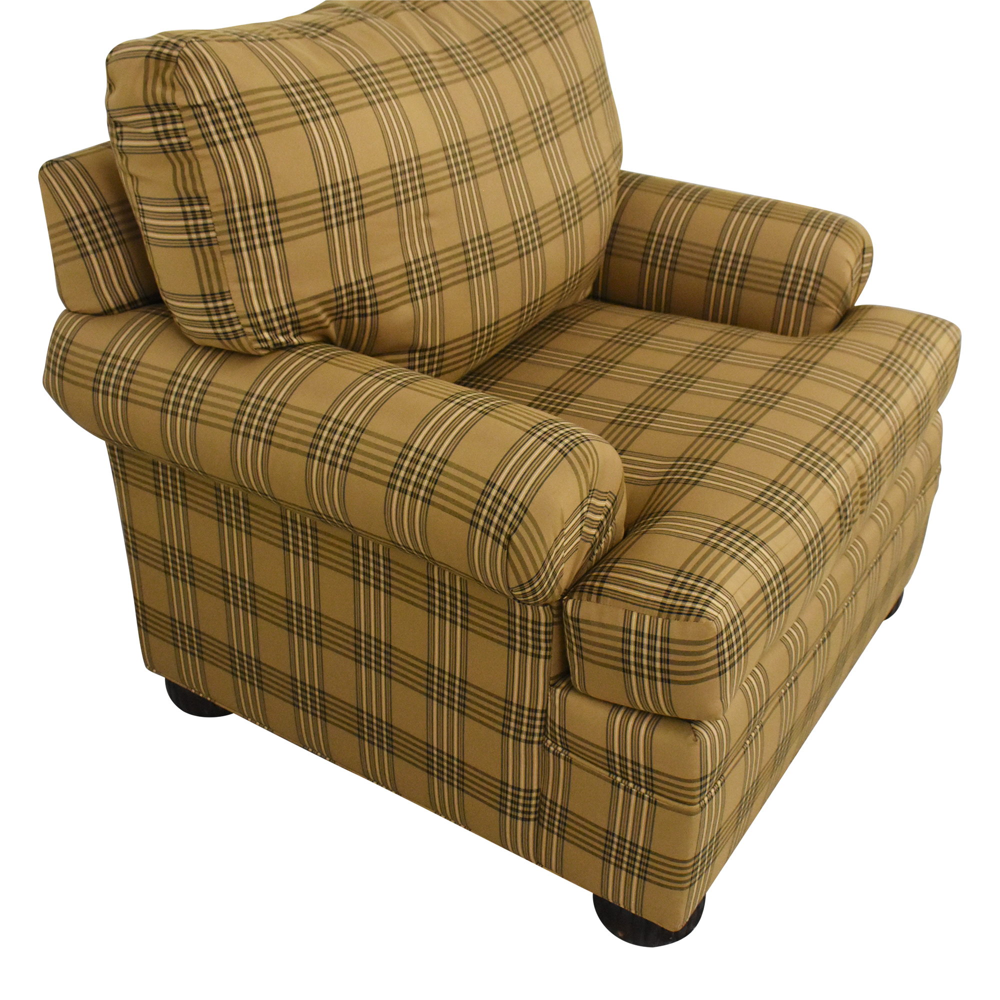 Ethan Allen Club Chair and Ottoman / Accent Chairs