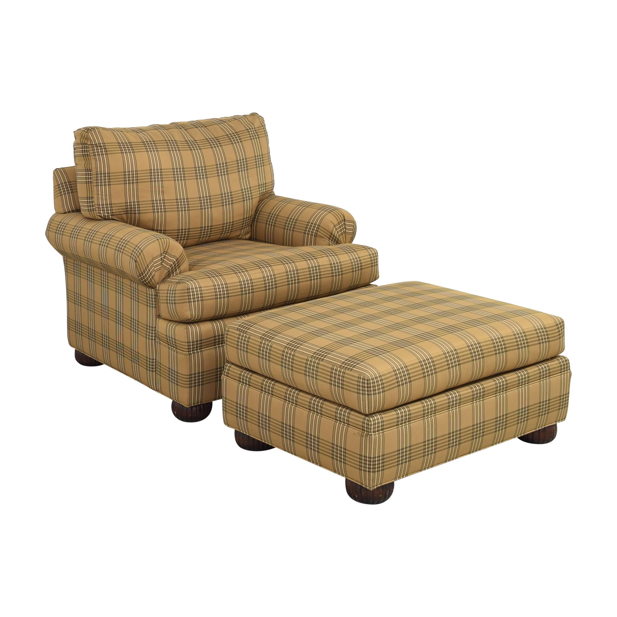 Ethan Allen Club Chair and Ottoman sale