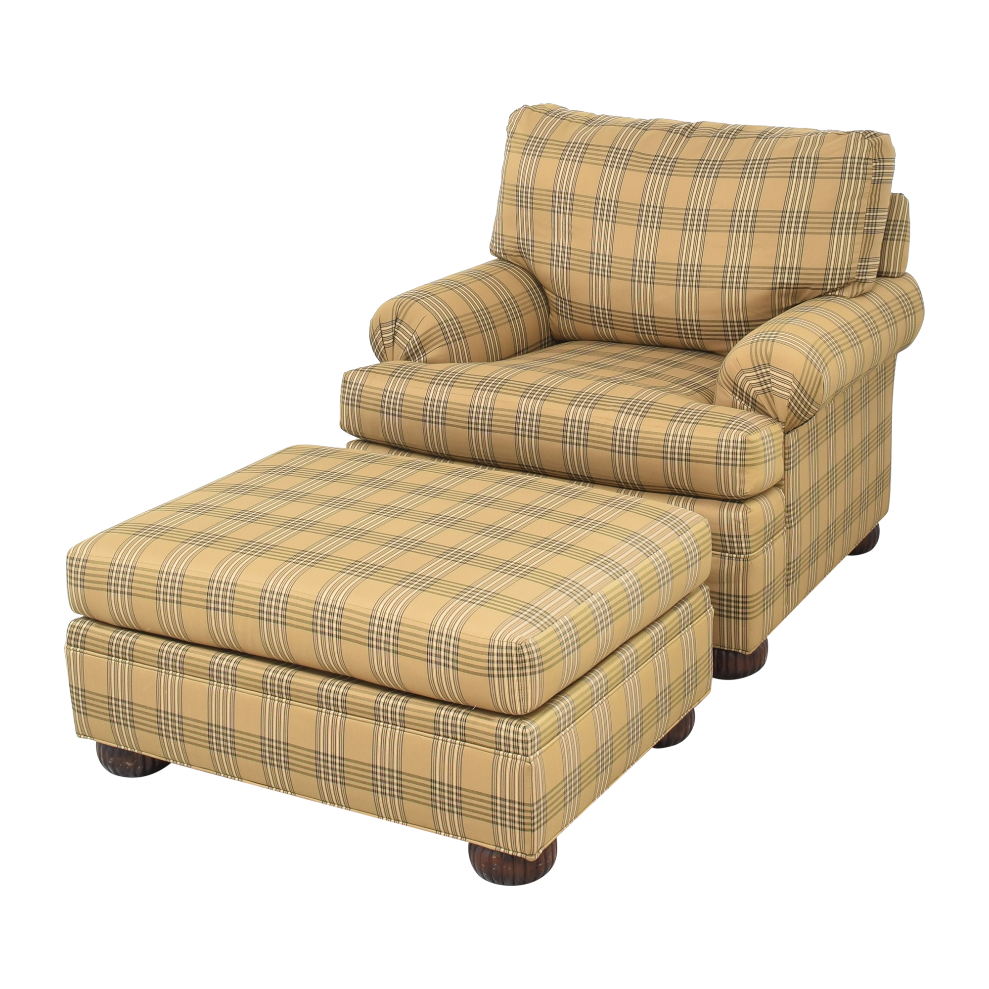 Ethan Allen Ethan Allen Club Chair and Ottoman used