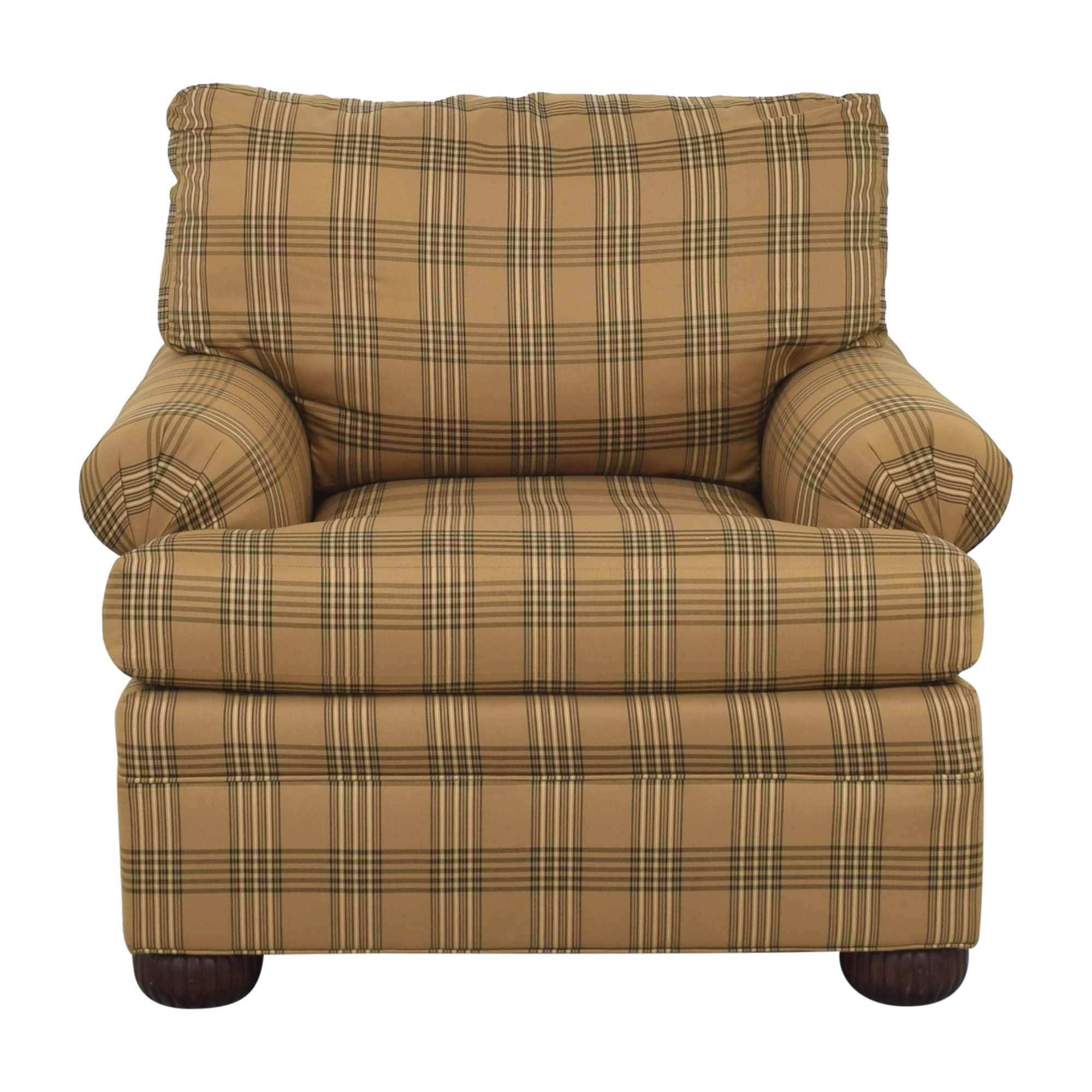 Ethan Allen Ethan Allen Club Chair and Ottoman nj