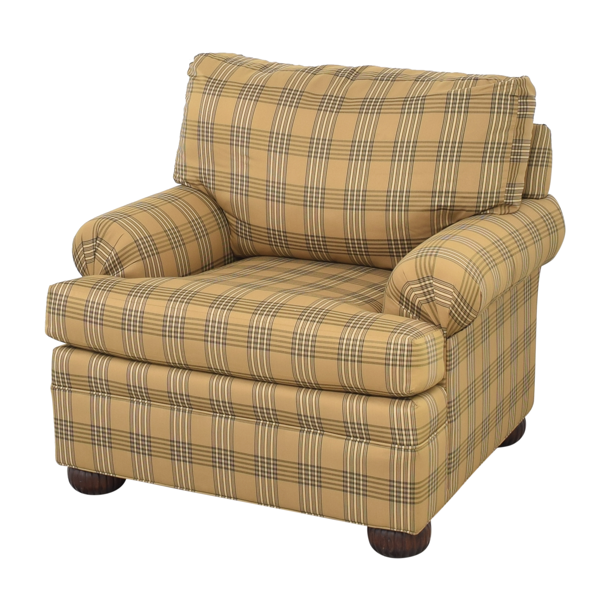 Ethan Allen Ethan Allen Club Chair and Ottoman Accent Chairs