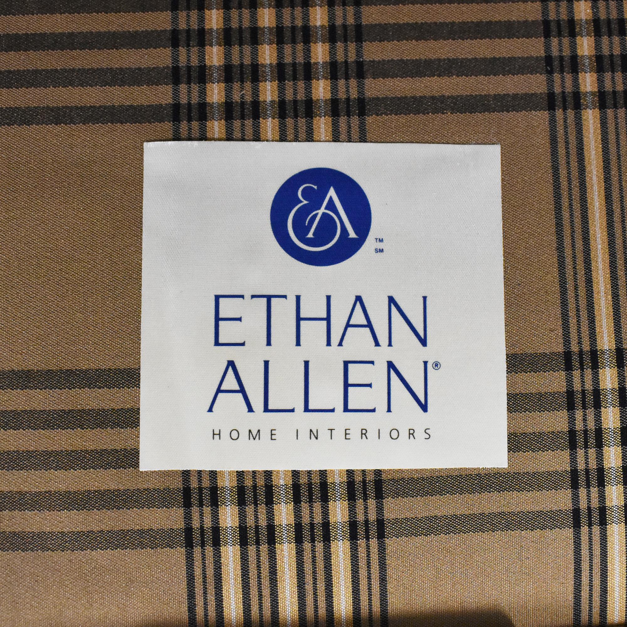 shop Ethan Allen Club Chair and Ottoman Ethan Allen Accent Chairs
