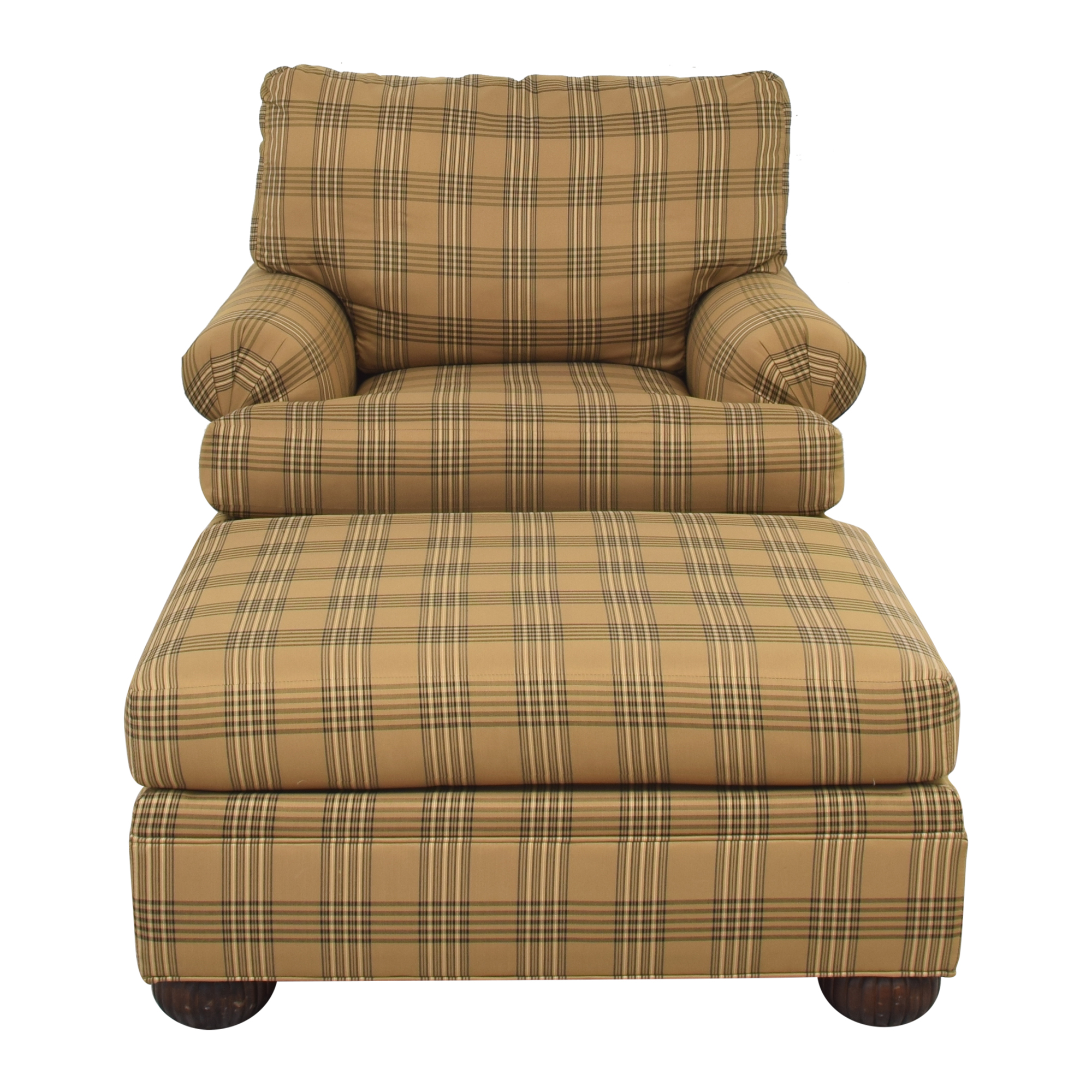 shop Ethan Allen Club Chair and Ottoman Ethan Allen