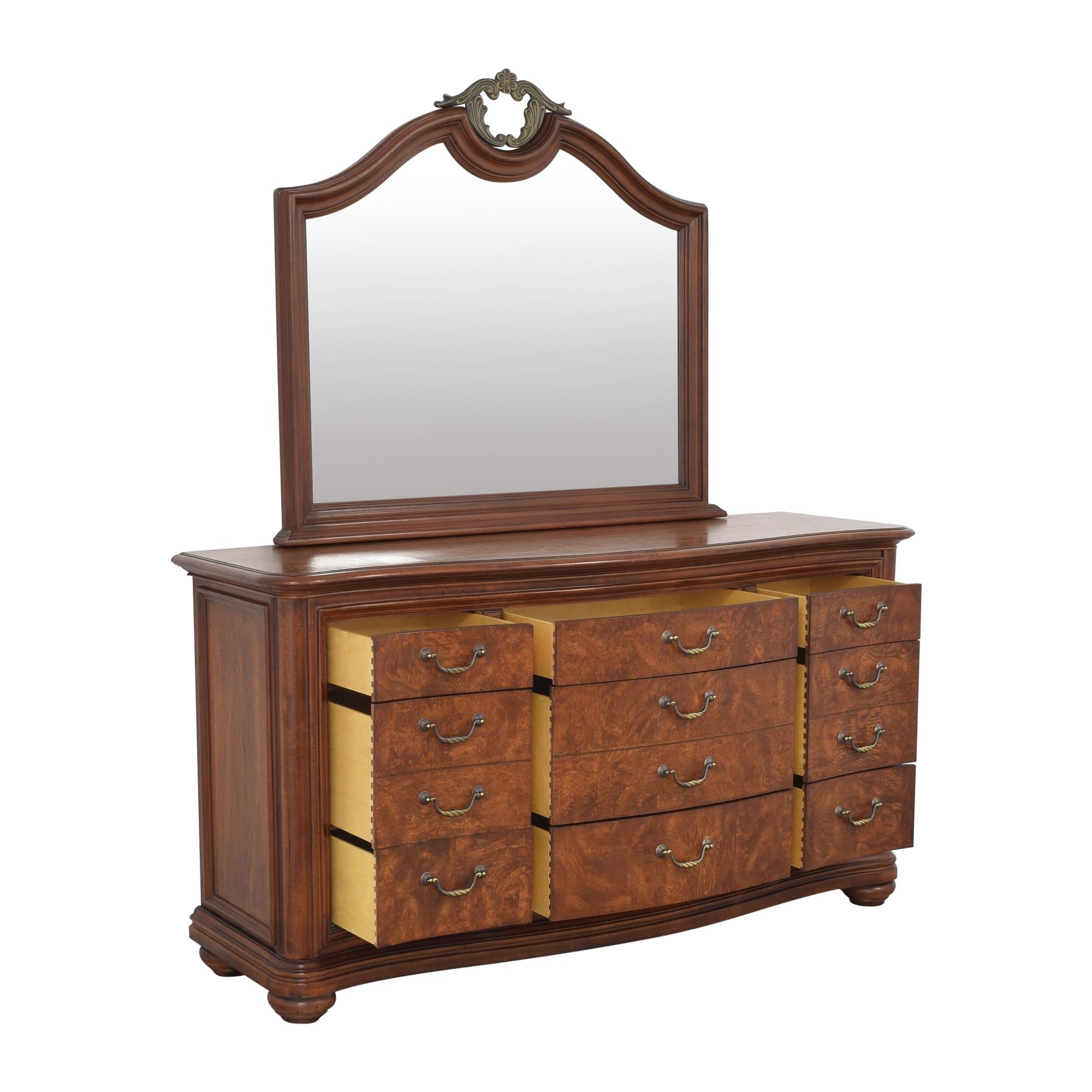 Thomasville Thomasville Twelve Drawer Dresser with Mirror for sale