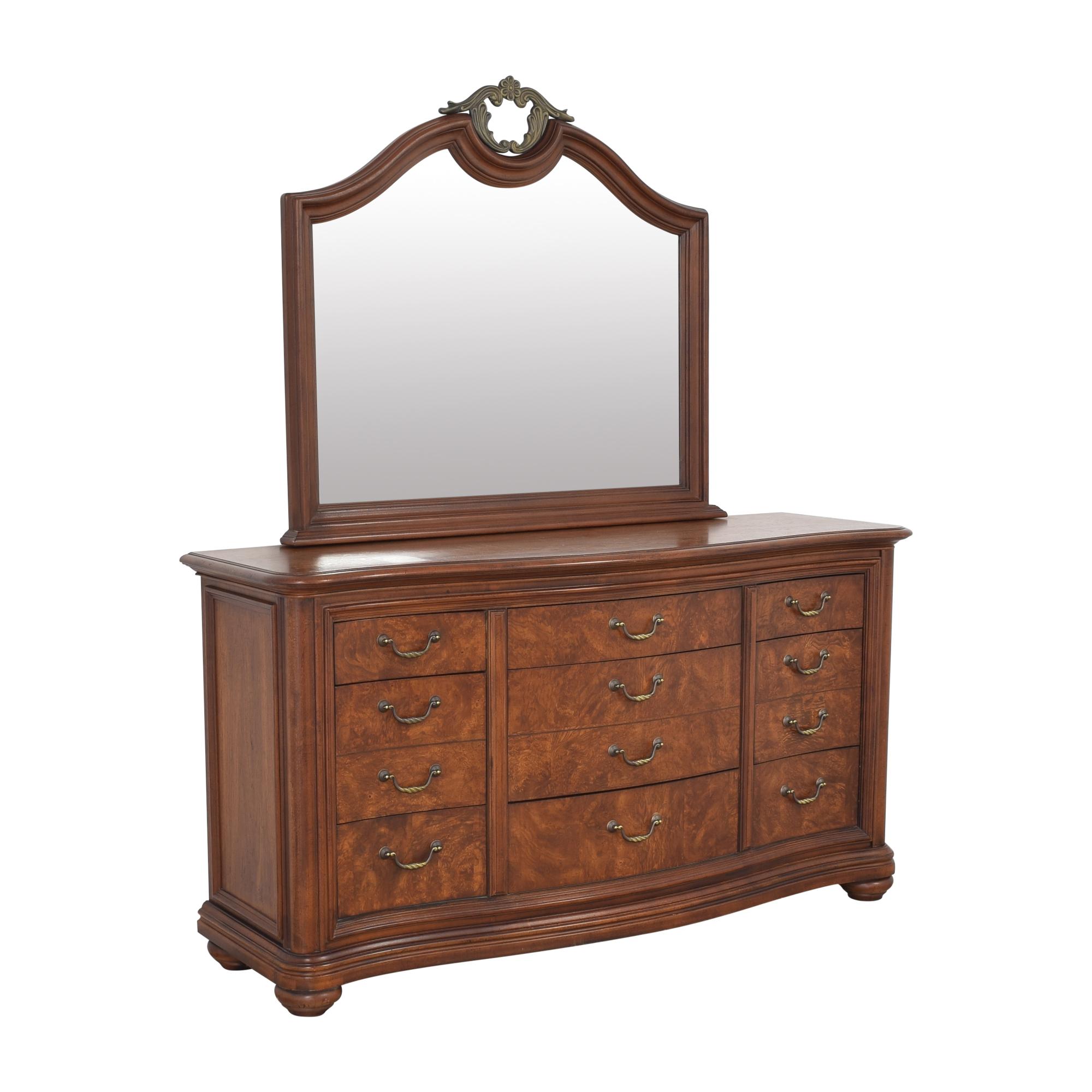 Thomasville Twelve Drawer Dresser with Mirror / Storage