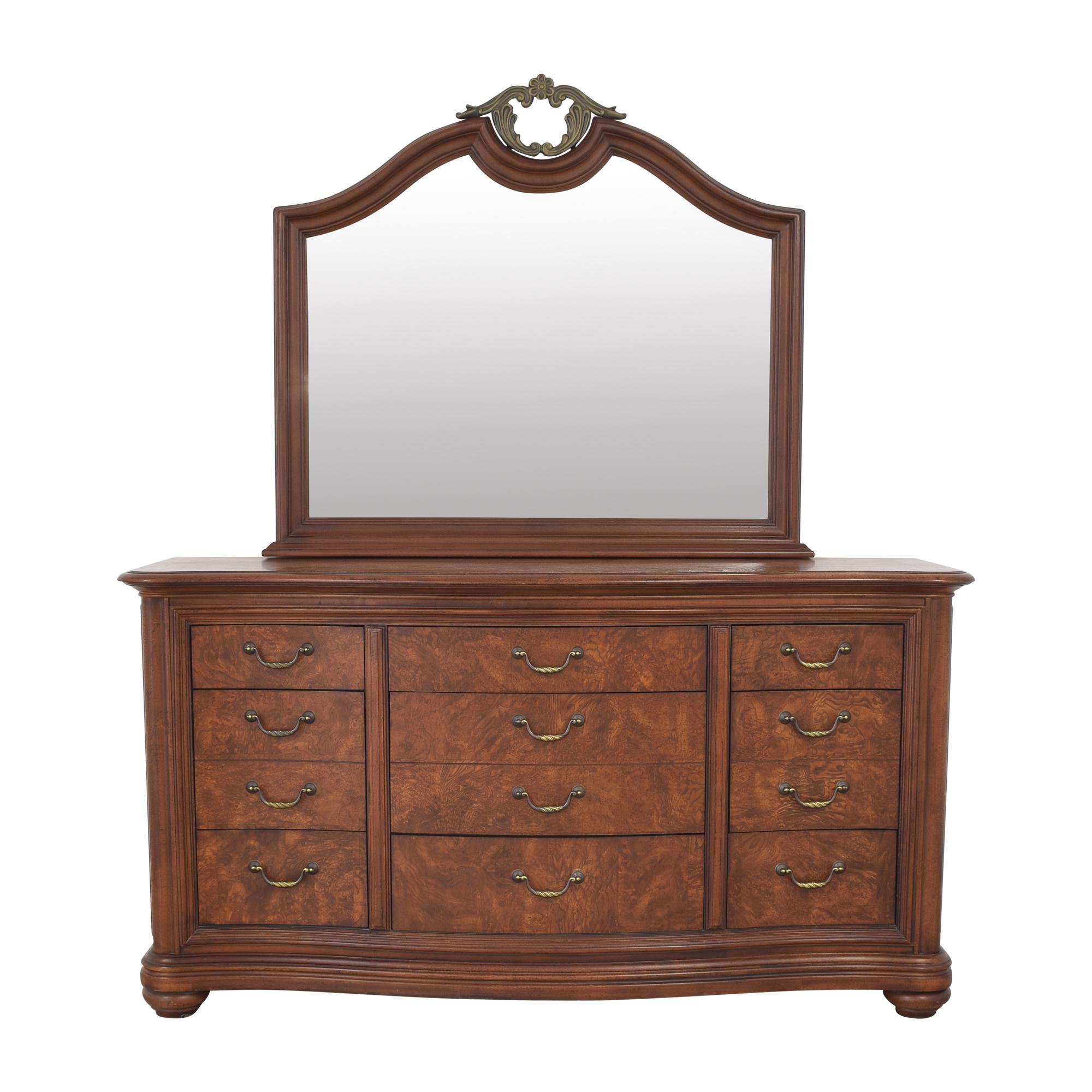 buy Thomasville Twelve Drawer Dresser with Mirror Thomasville