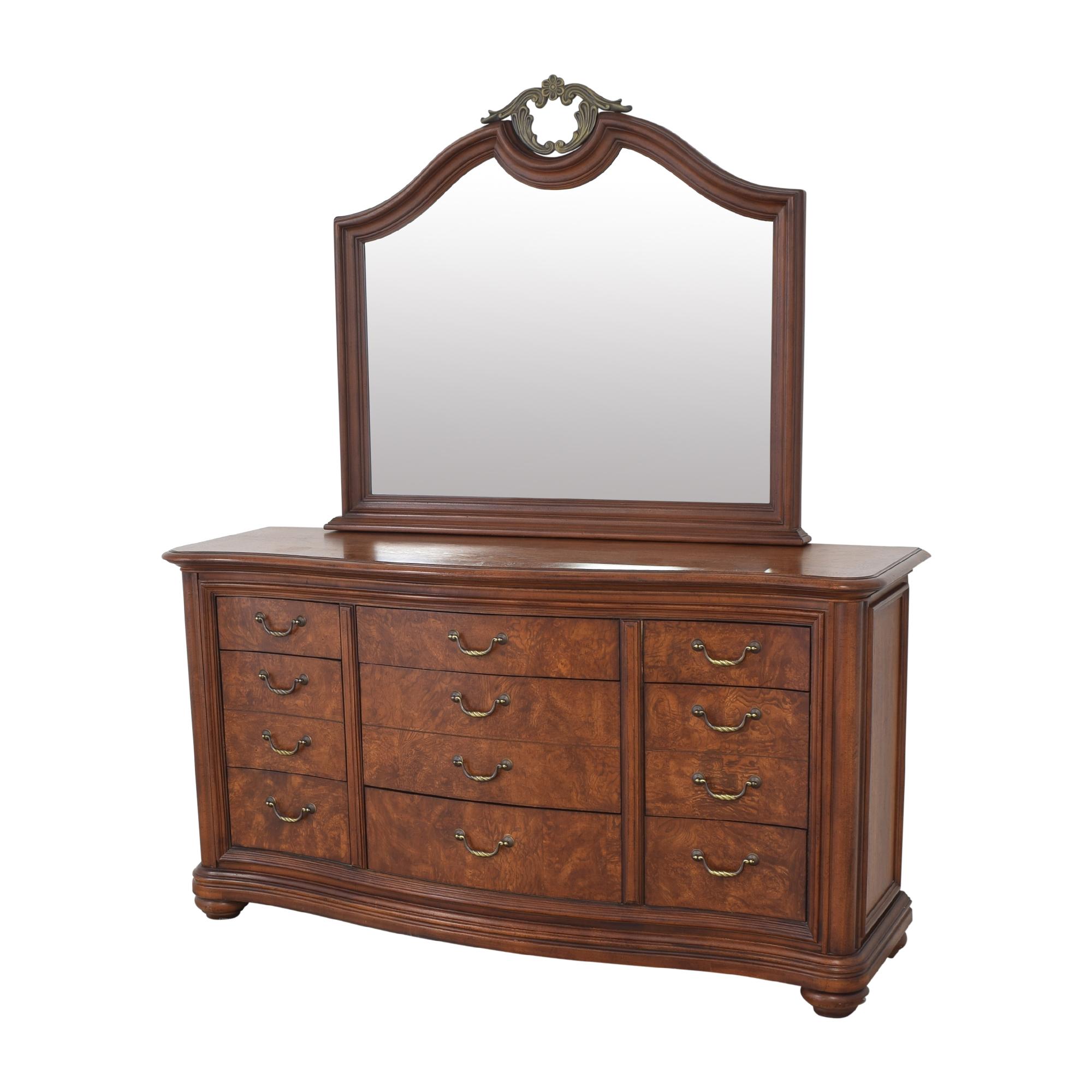 Thomasville Thomasville Twelve Drawer Dresser with Mirror pa