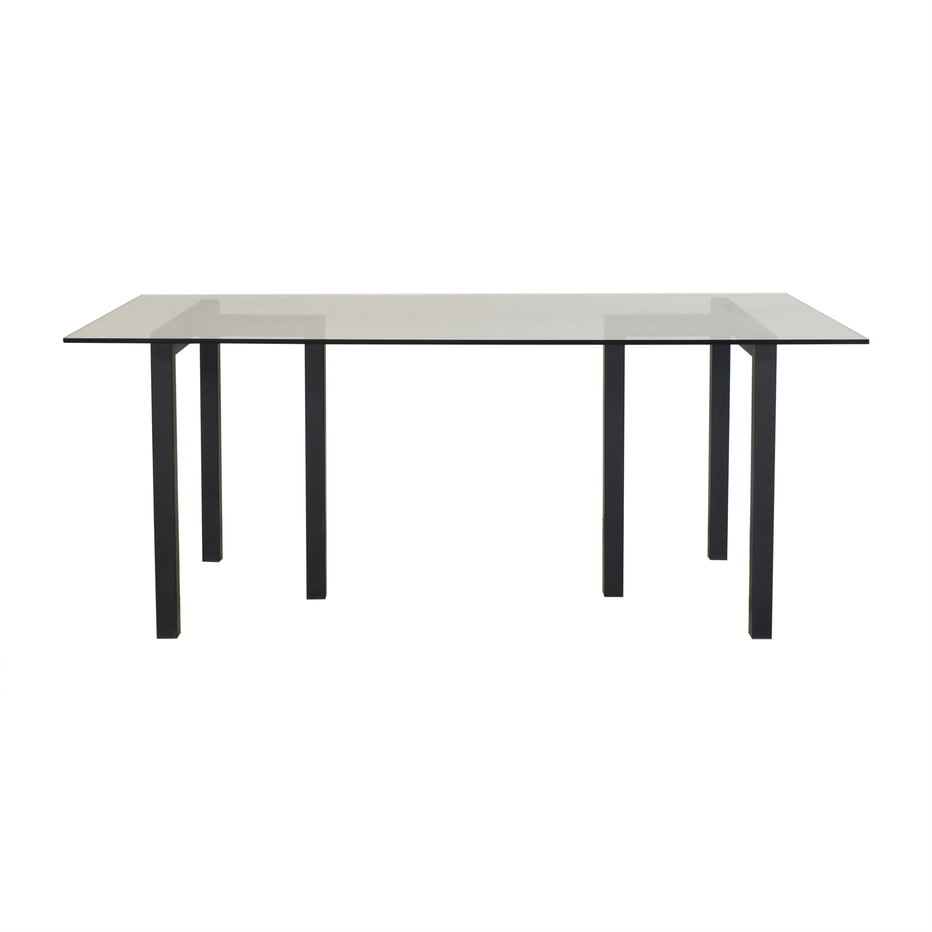 buy Crate & Barrel Crate & Barrel Dining Table with Transparent Surface online