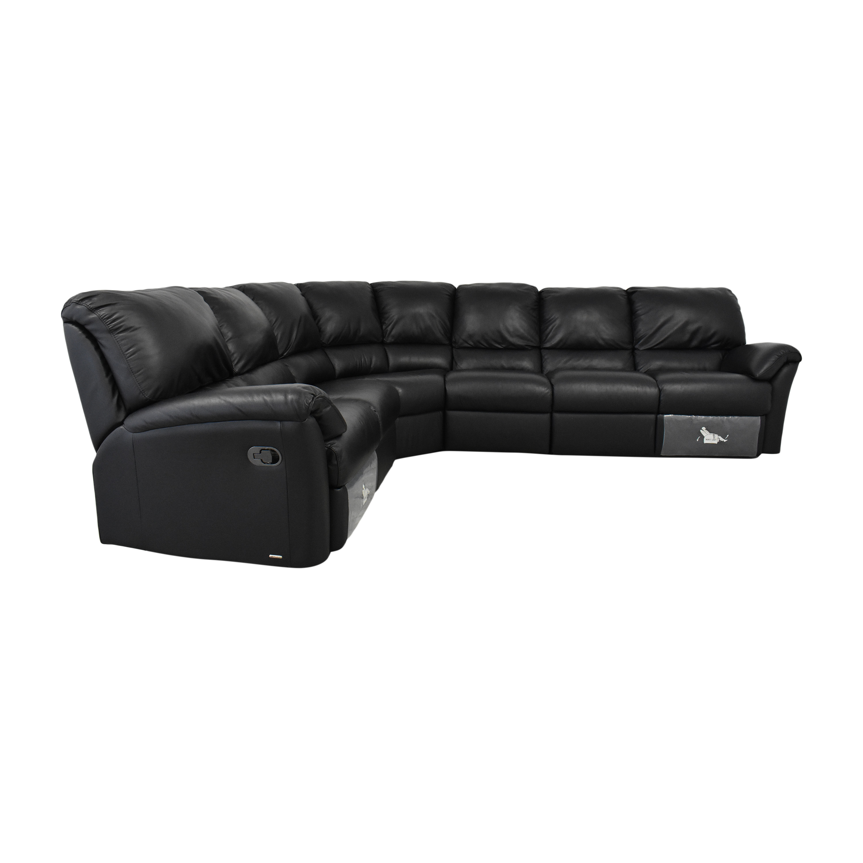 Natuzzi Natuzzi Corner Sectional Sofa with Recliners used