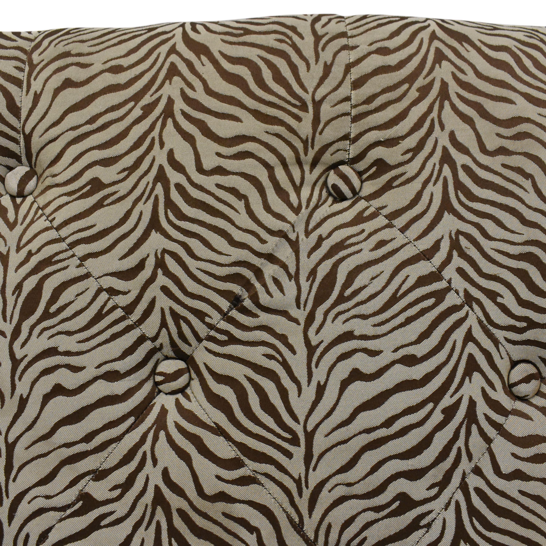 Zebra Print X Bench ct