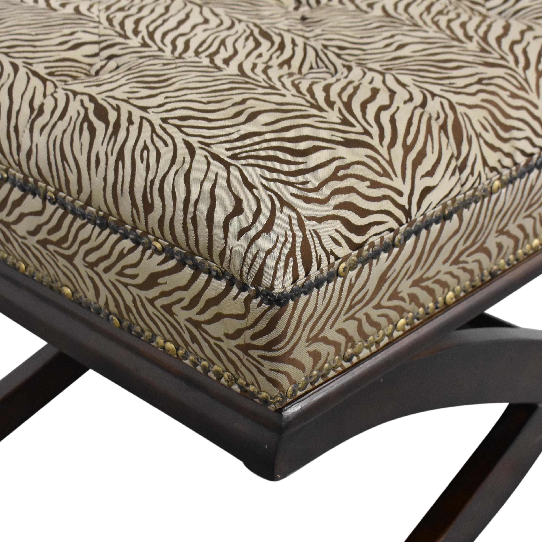 shop Zebra Print X Bench  Benches