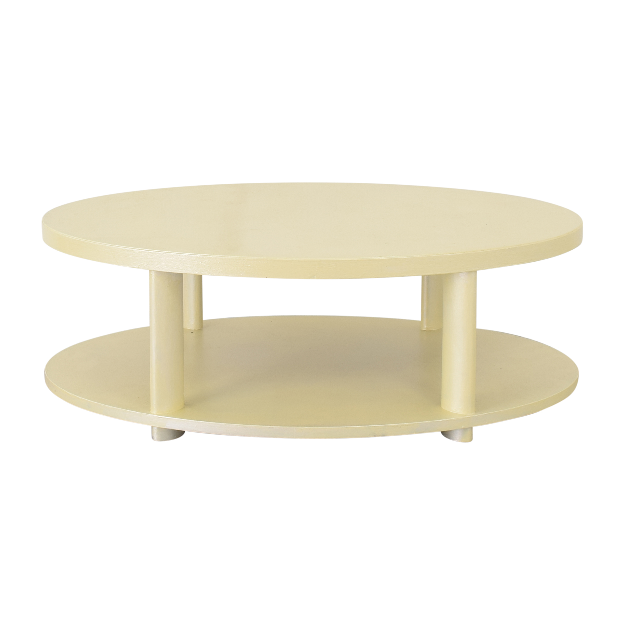 Baker Furniture Barbara Barry for Baker Oval Tiered Coffee Table ct