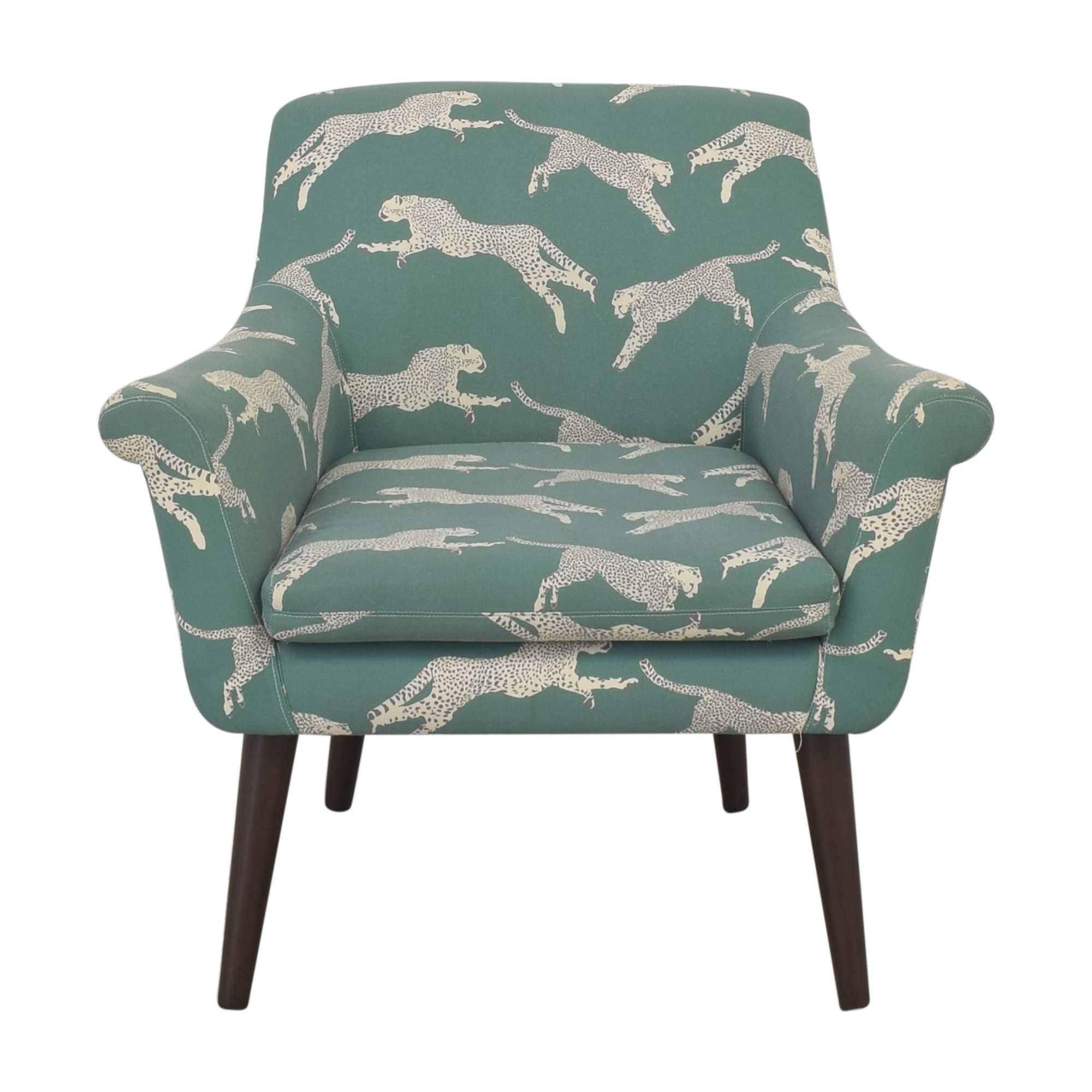 shop The Inside Polo Green Cheetah Cocktail Chair The Inside Accent Chairs