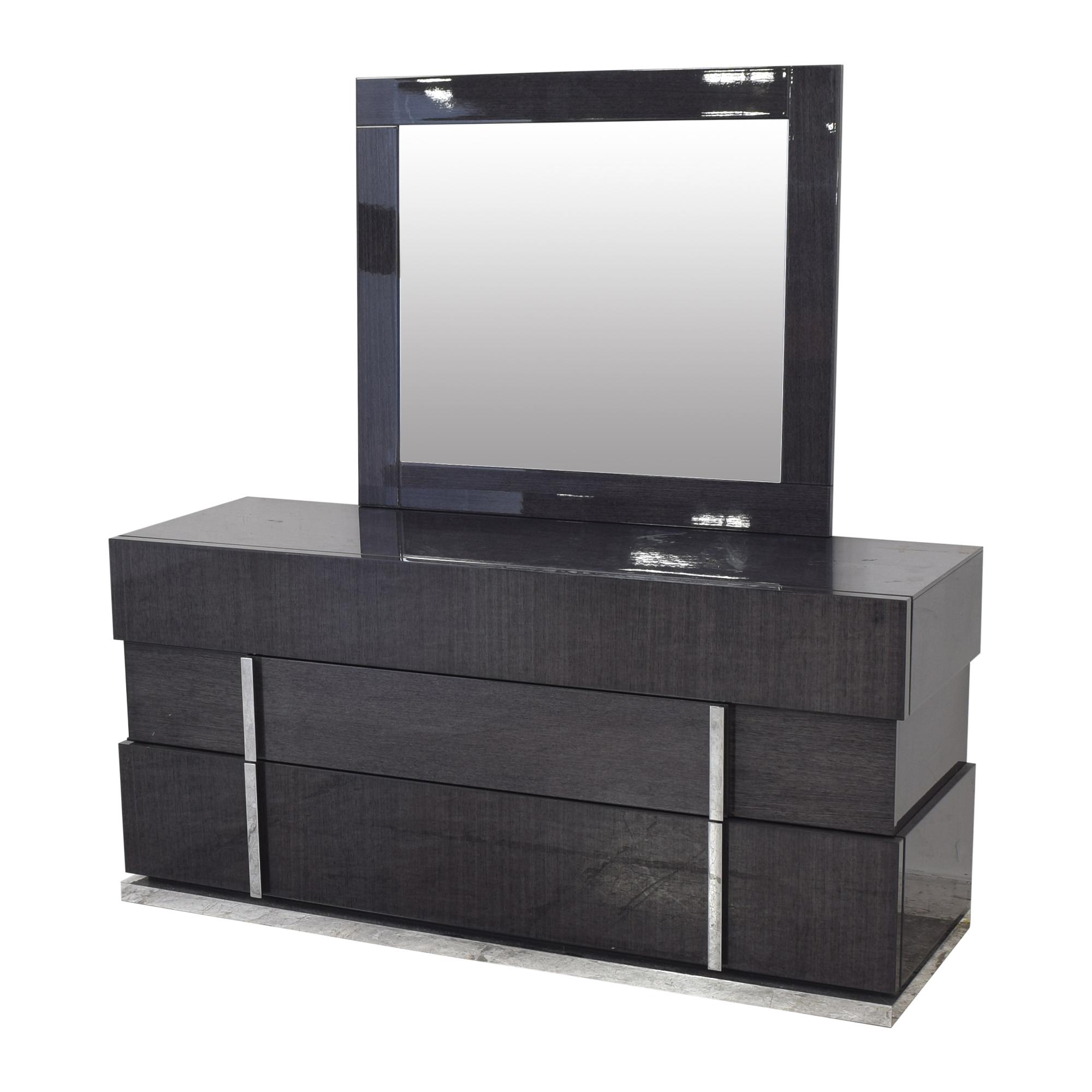 shop Alf Italia Montecarlo Dresser with Mirror Alf Italia Storage