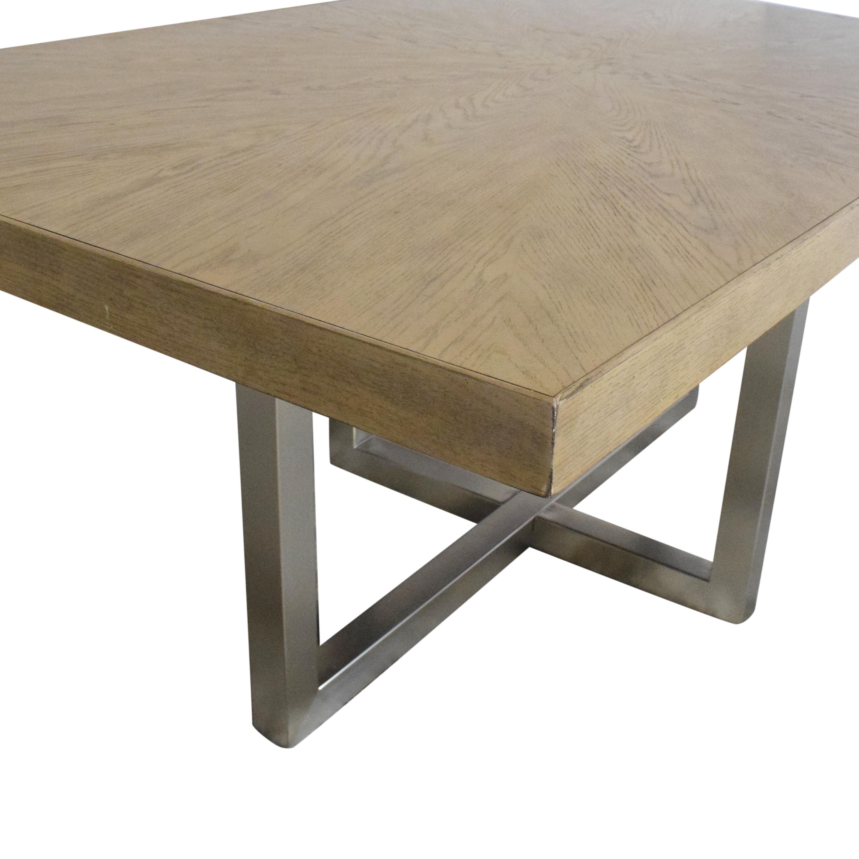 Macy's Macy's Altair Contemporary Dining Table Tables