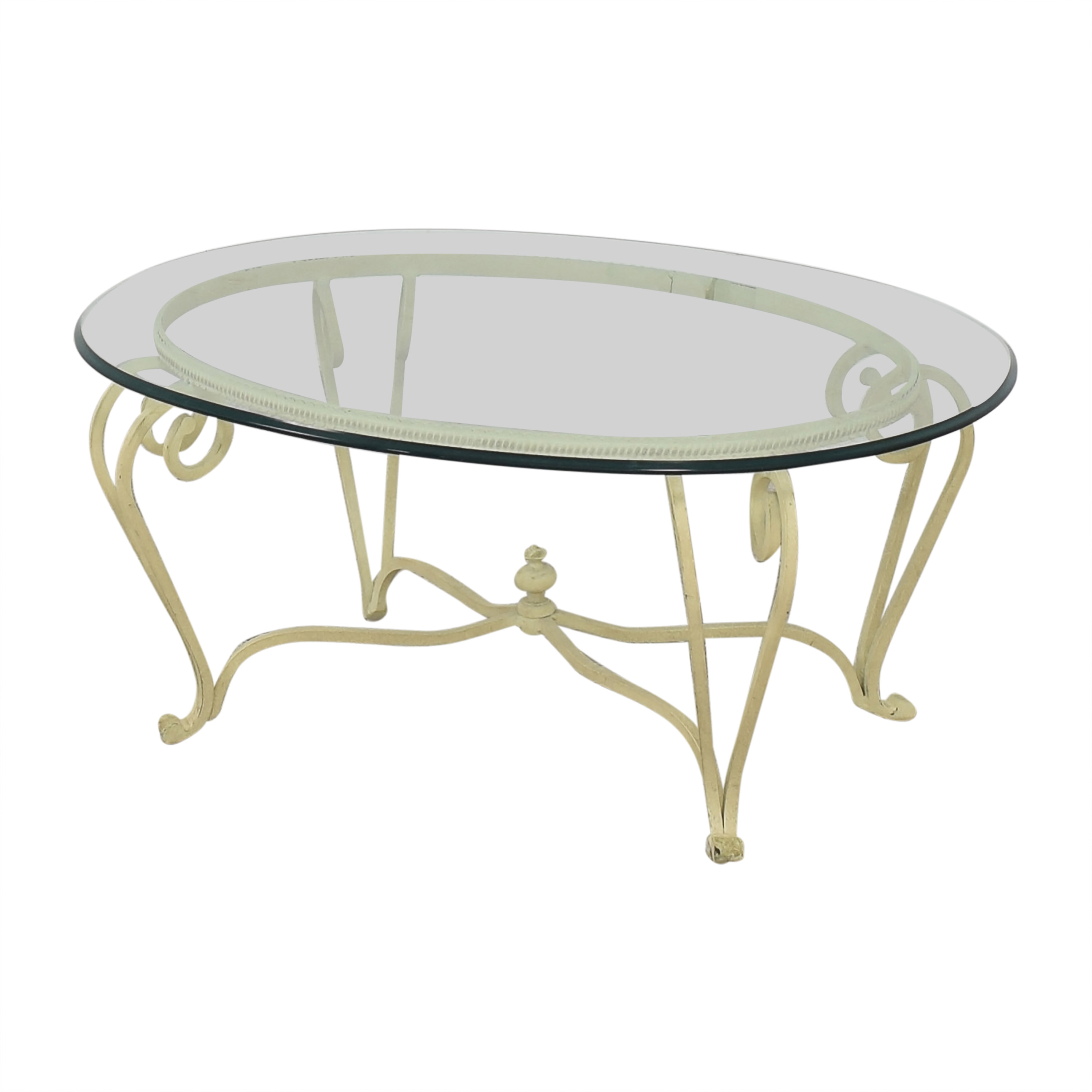 buy Ethan Allen Coffee Table with Transparent Surface Ethan Allen Coffee Tables