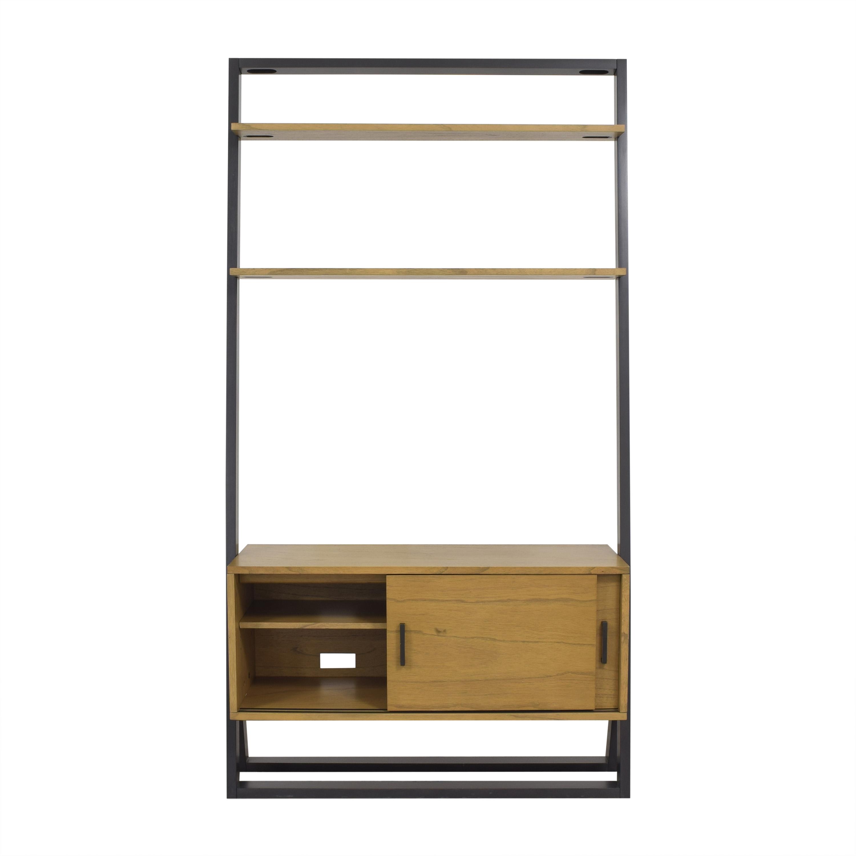 West Elm Ladder Shelf Media Console sale