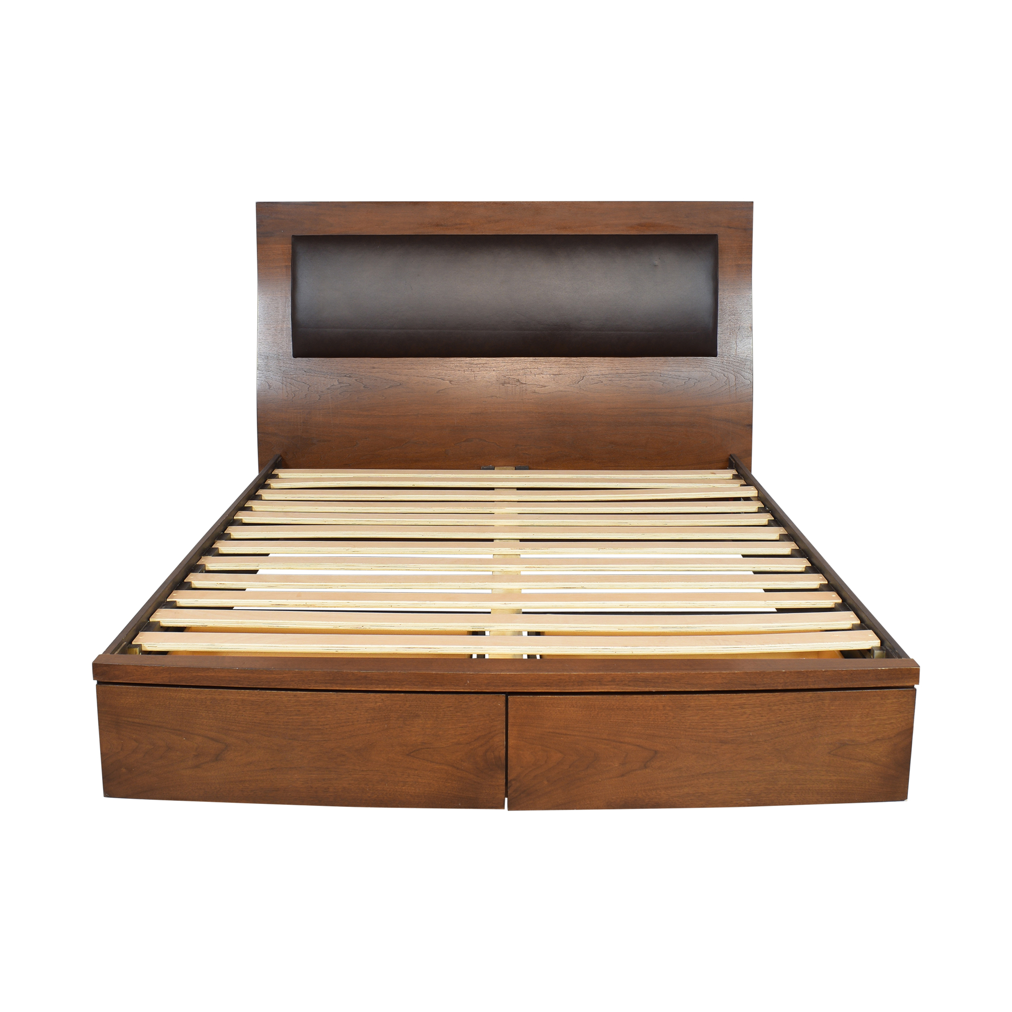 Raymour & Flanigan Raymour & Flanigan Queen Storage Bed ma